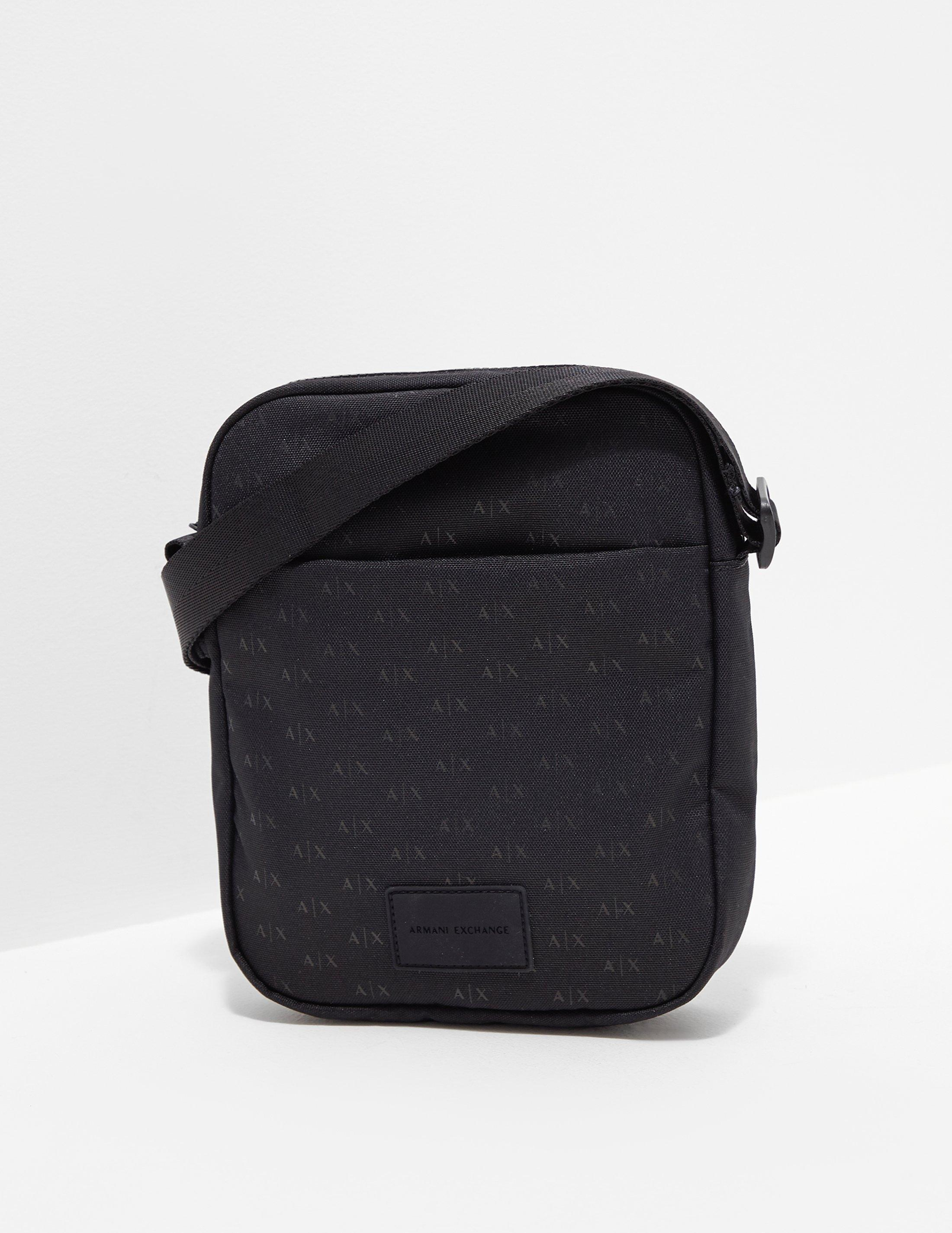 07e7e71479fa Armani Exchange - Mens All Over Print Small Item Bag Black for Men - Lyst.  View fullscreen
