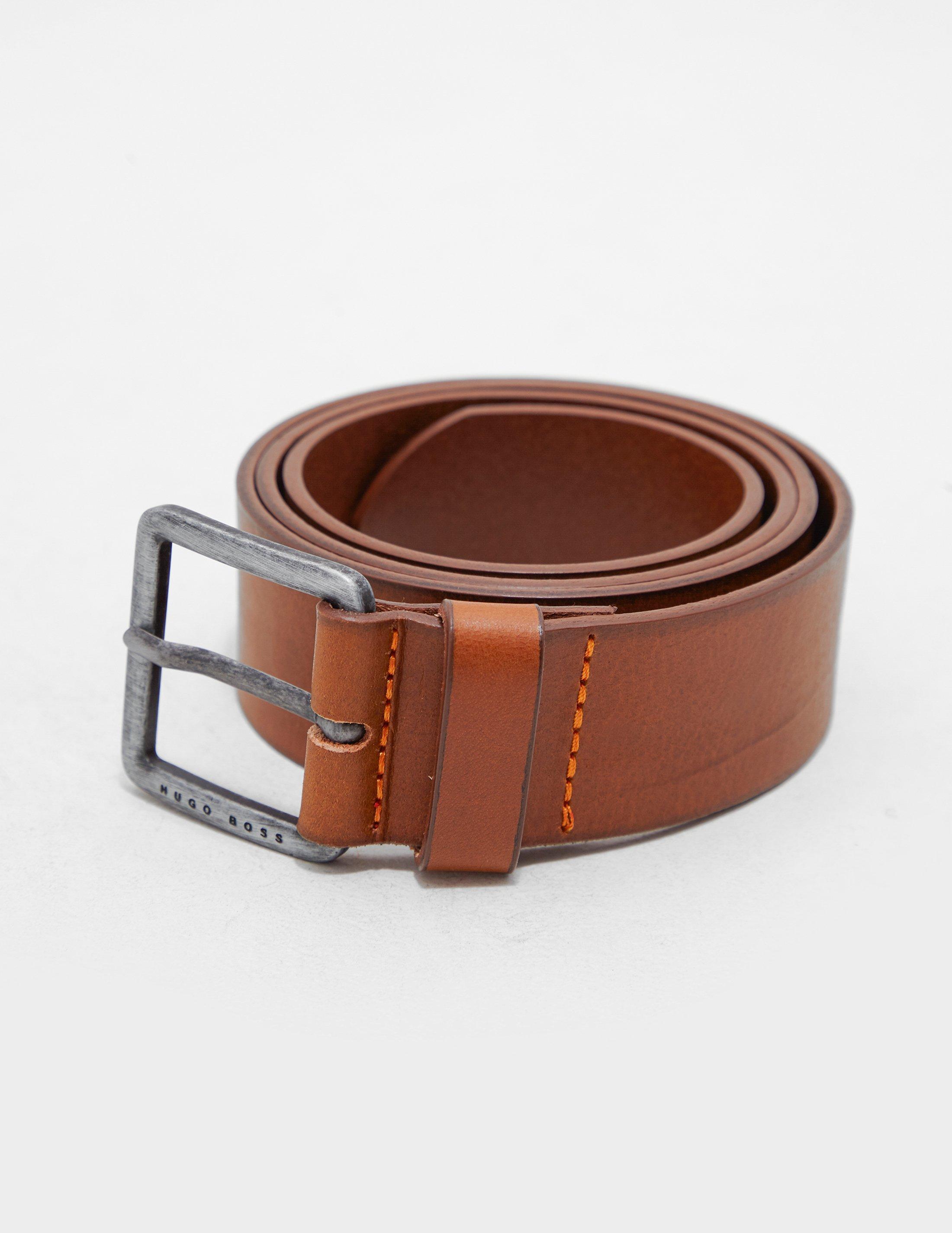 3beadd64cc9f Lyst - BOSS Jeeko Leather Belt Tan/tan in Brown for Men