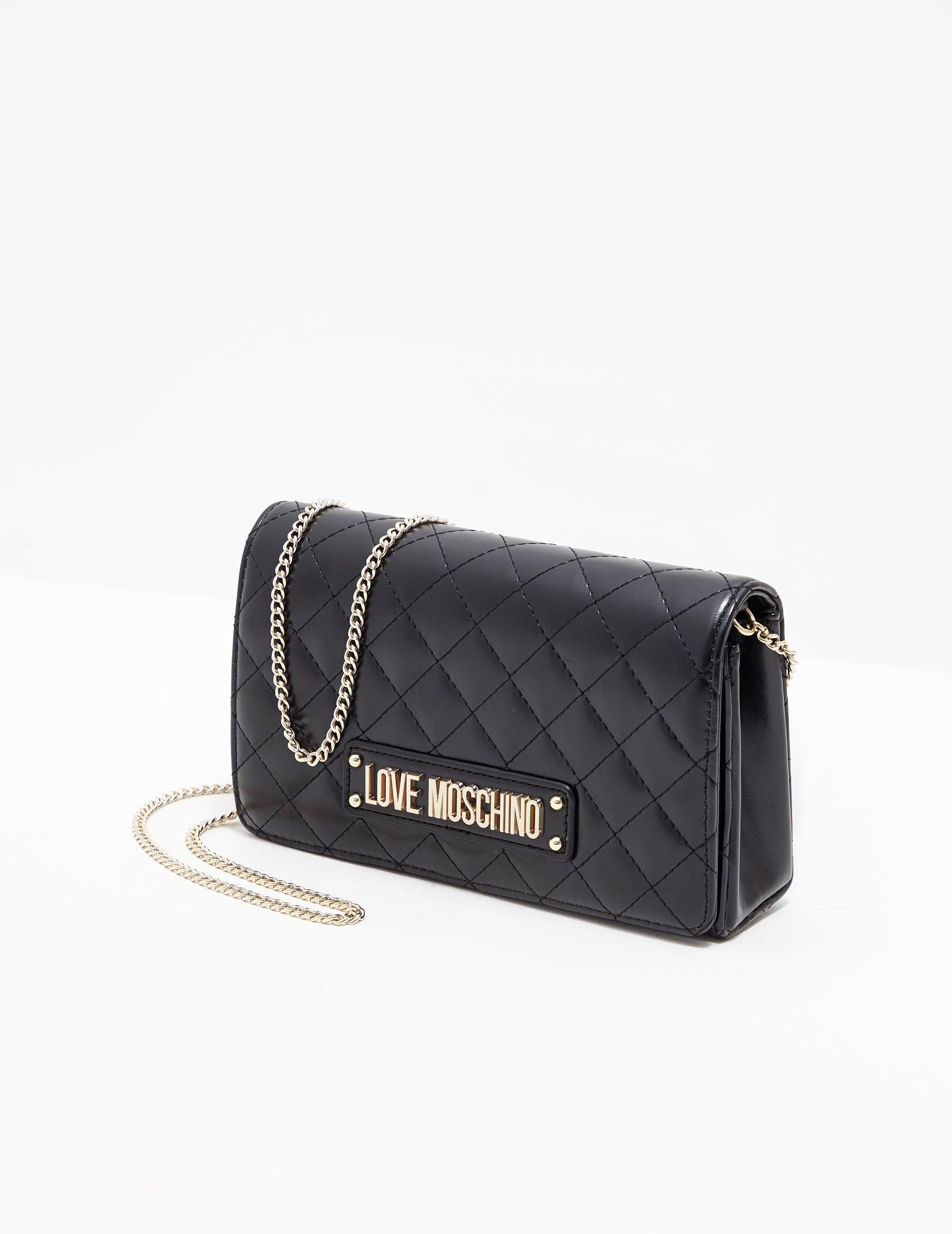 139124b7fbf Love Moschino Quilted Chain Shoulder Bag Black in Black - Lyst