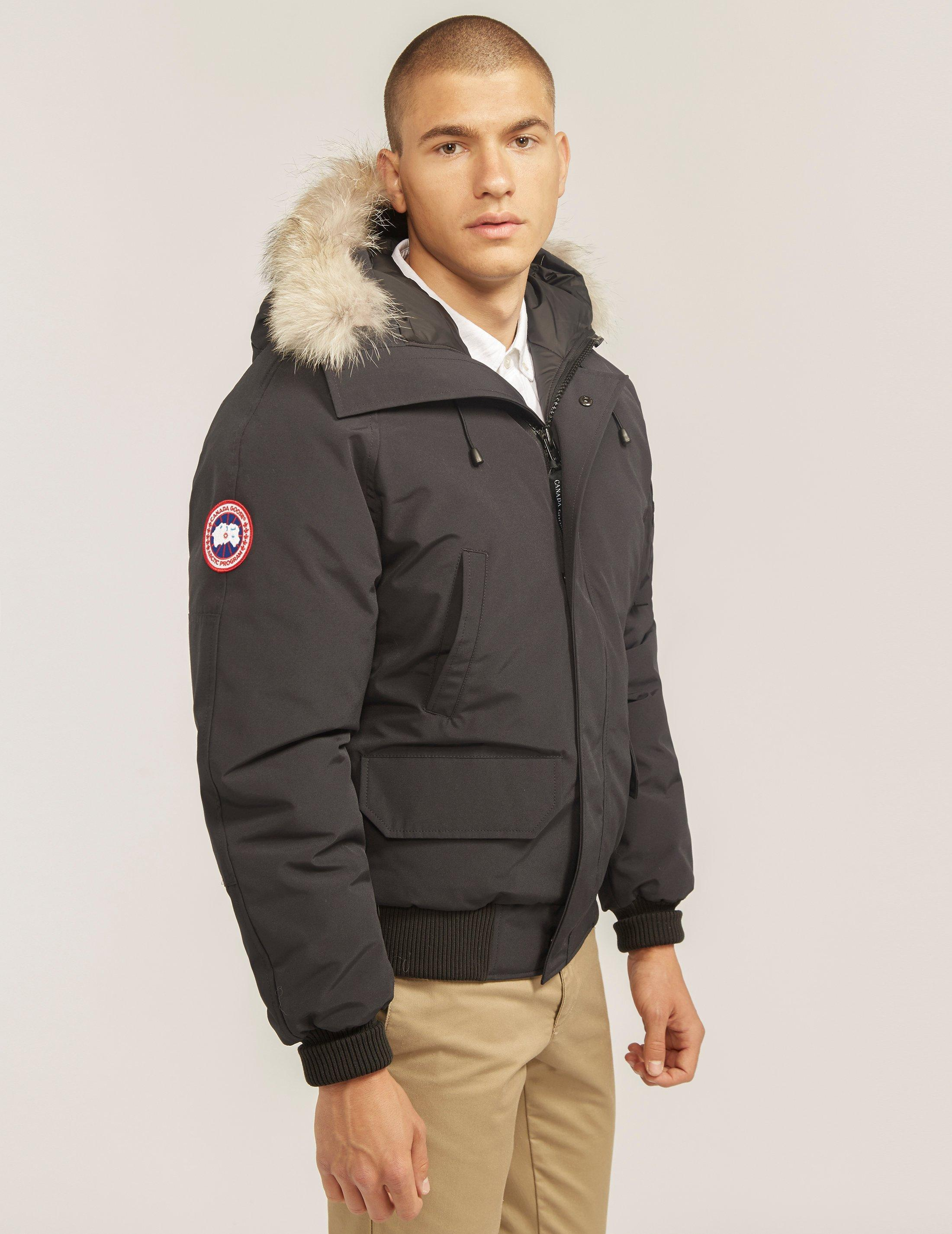 canada goose bomber jacket navy