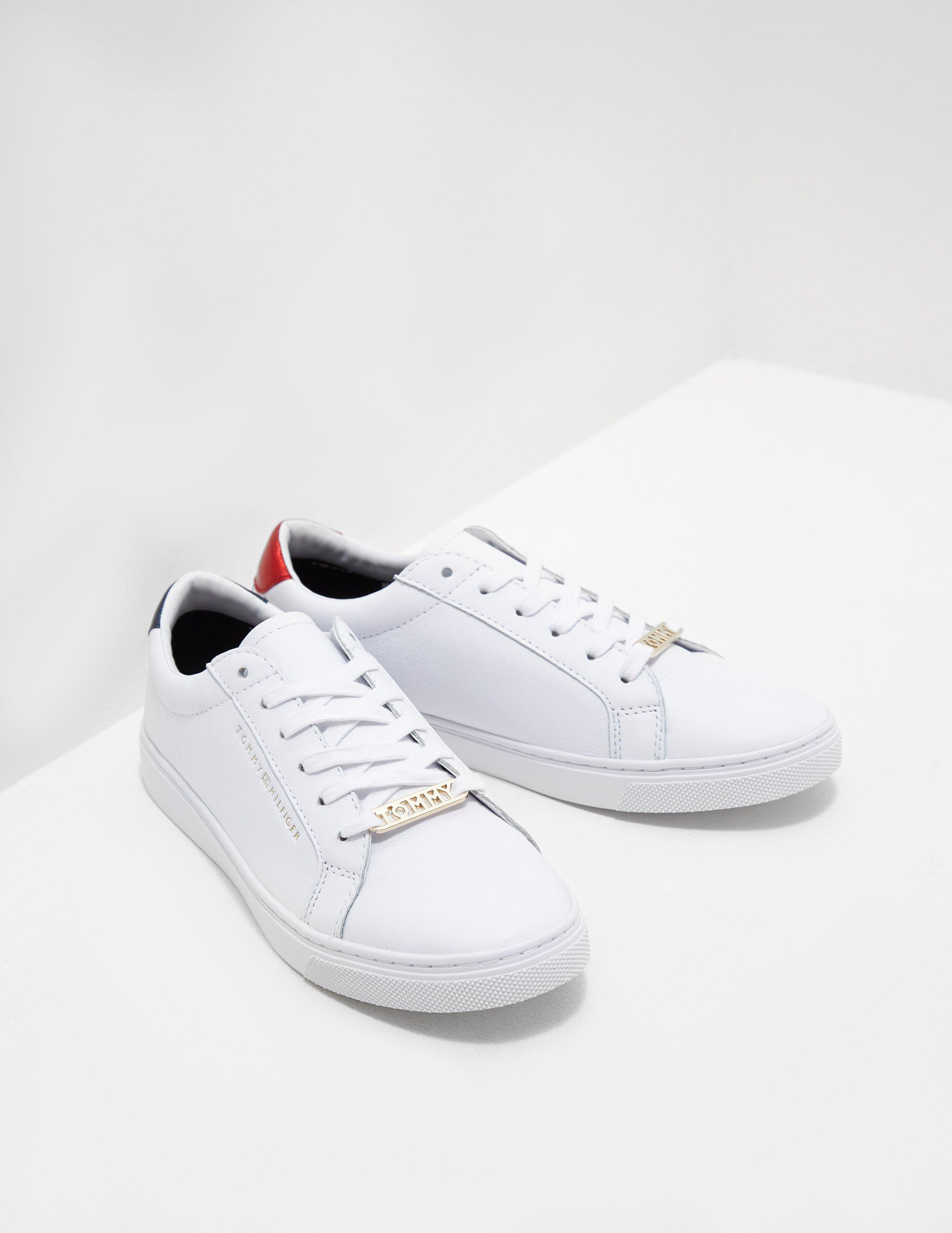 3fba8a94b3e15 Lyst - Tommy Hilfiger Essential Sneakers White in White