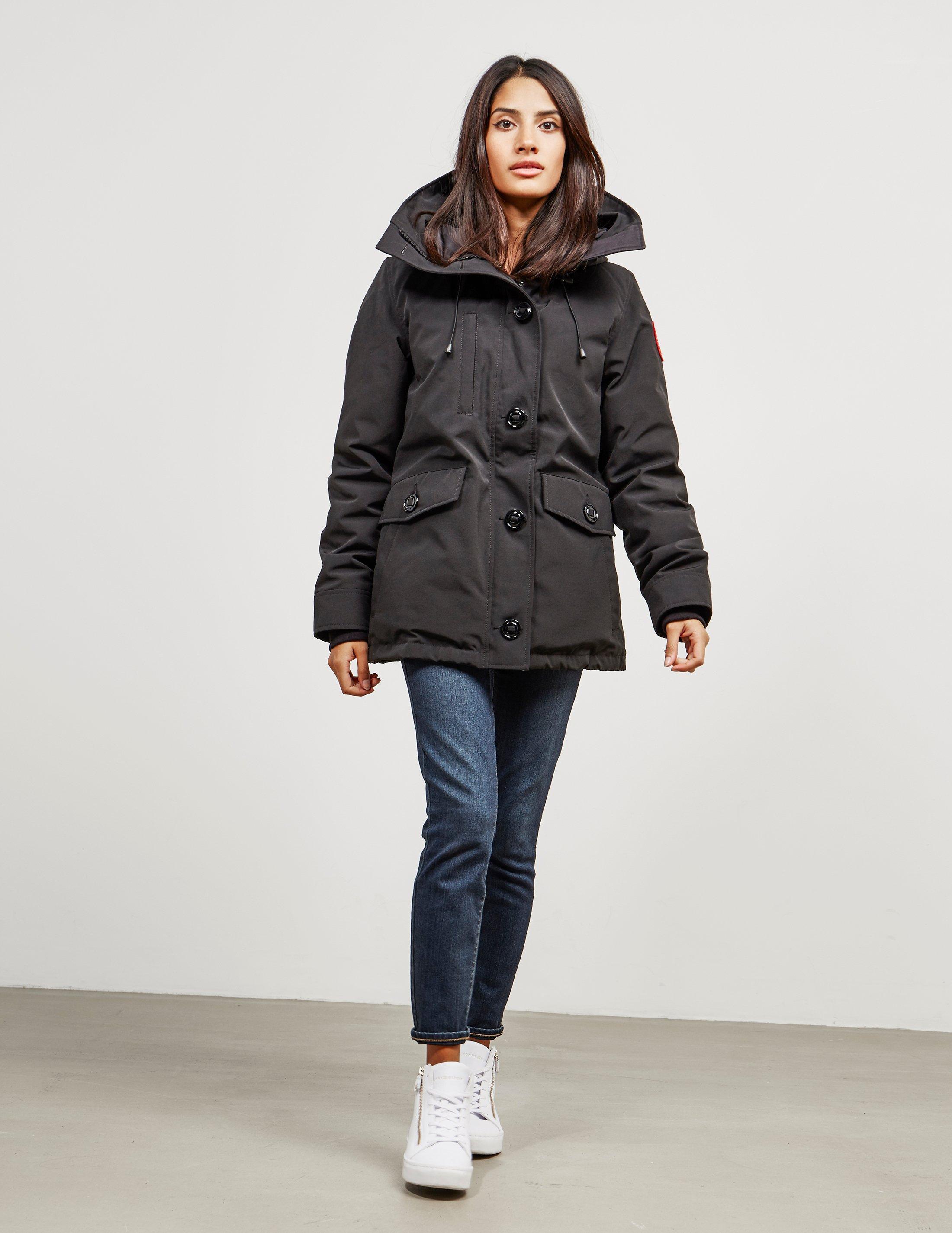 cd3c14936fd1 ... ireland lyst canada goose womens rideau padded parka jacket black in  black save 1.2790697674418539 738c6 2ee4b