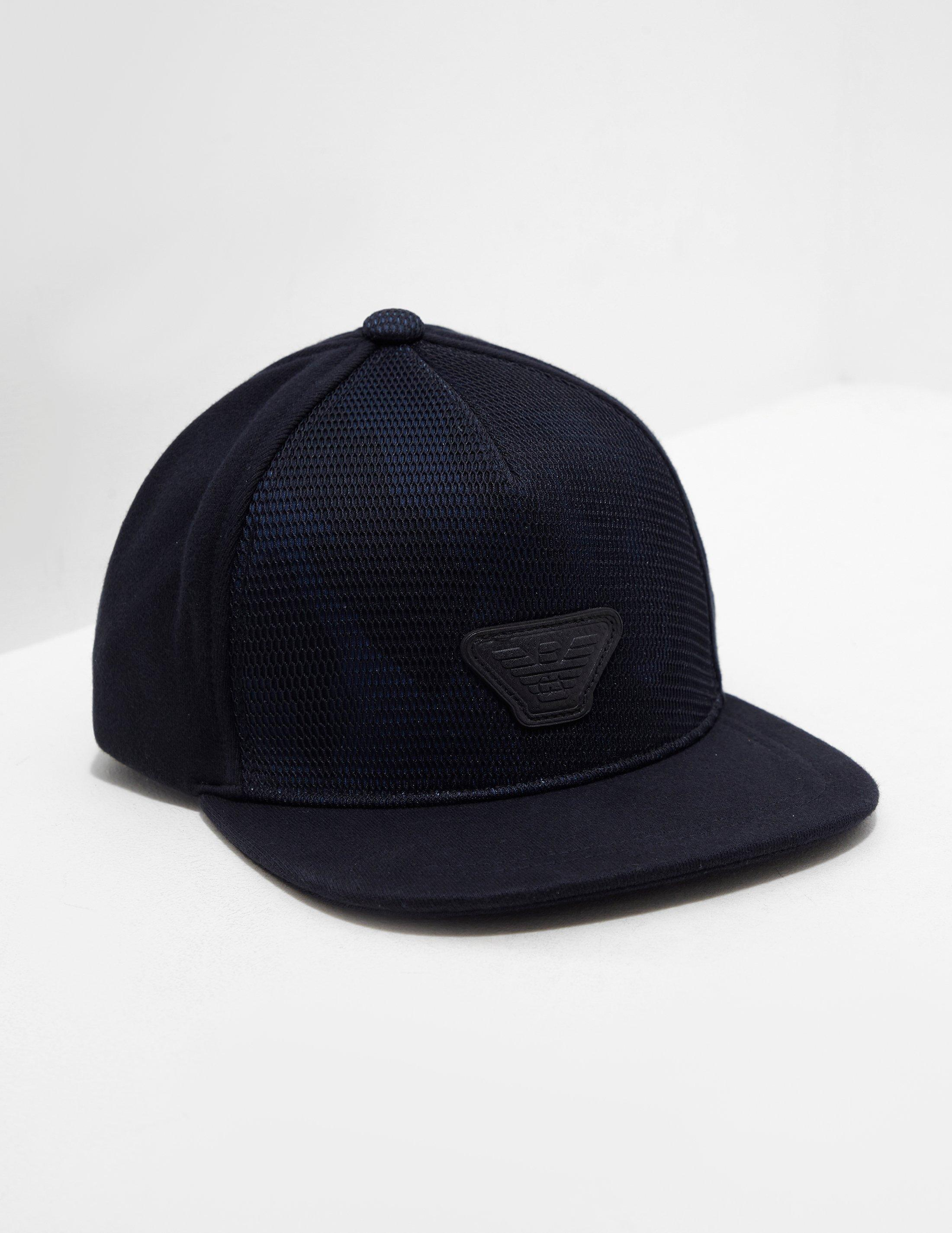 81069dfe97f Emporio Armani Mens Mesh Camouflage Cap Navy Blue in Blue for Men - Lyst