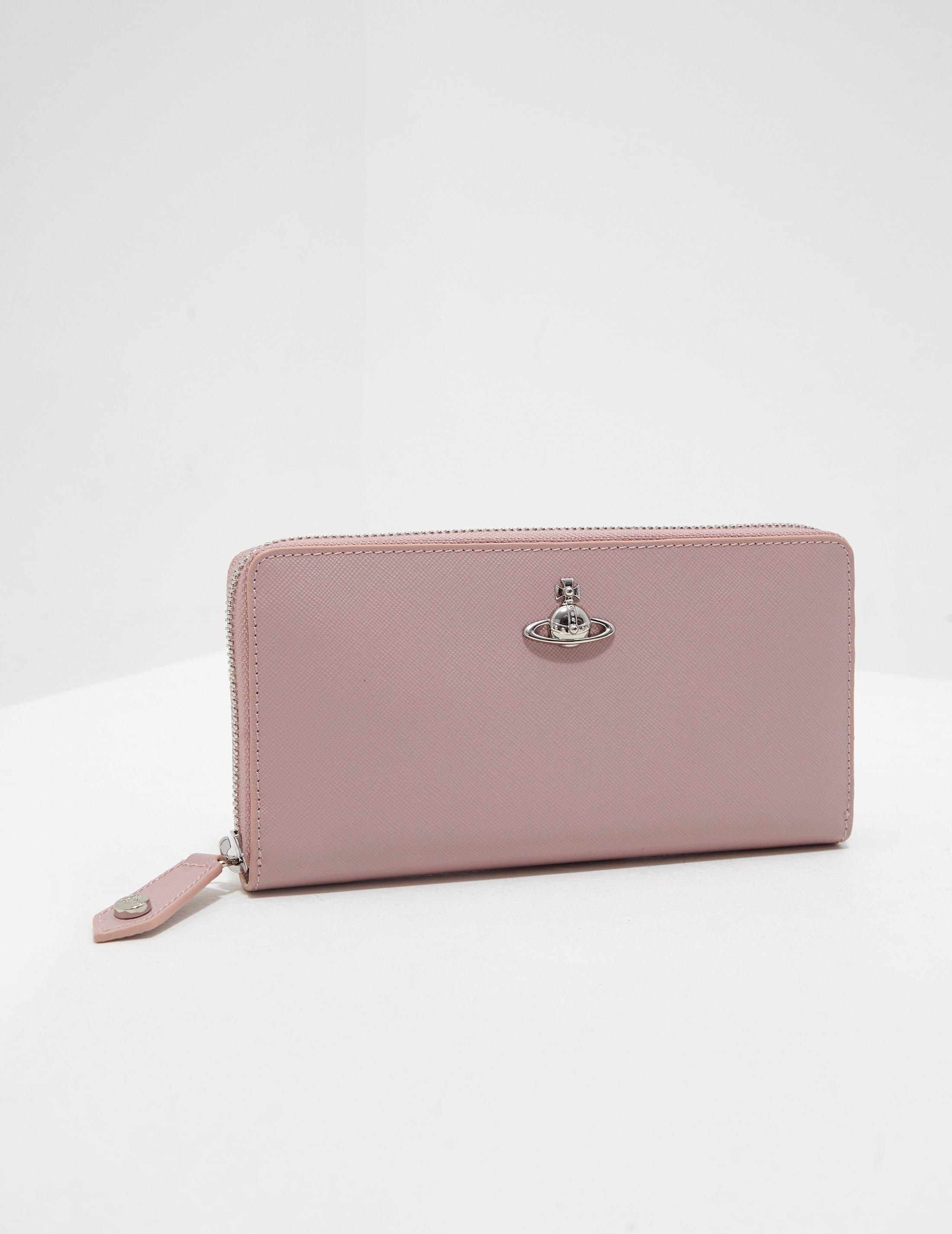 96ea5f7ce2327 Vivienne Westwood Womens Pimlico Zip Purse Pink in Pink - Lyst