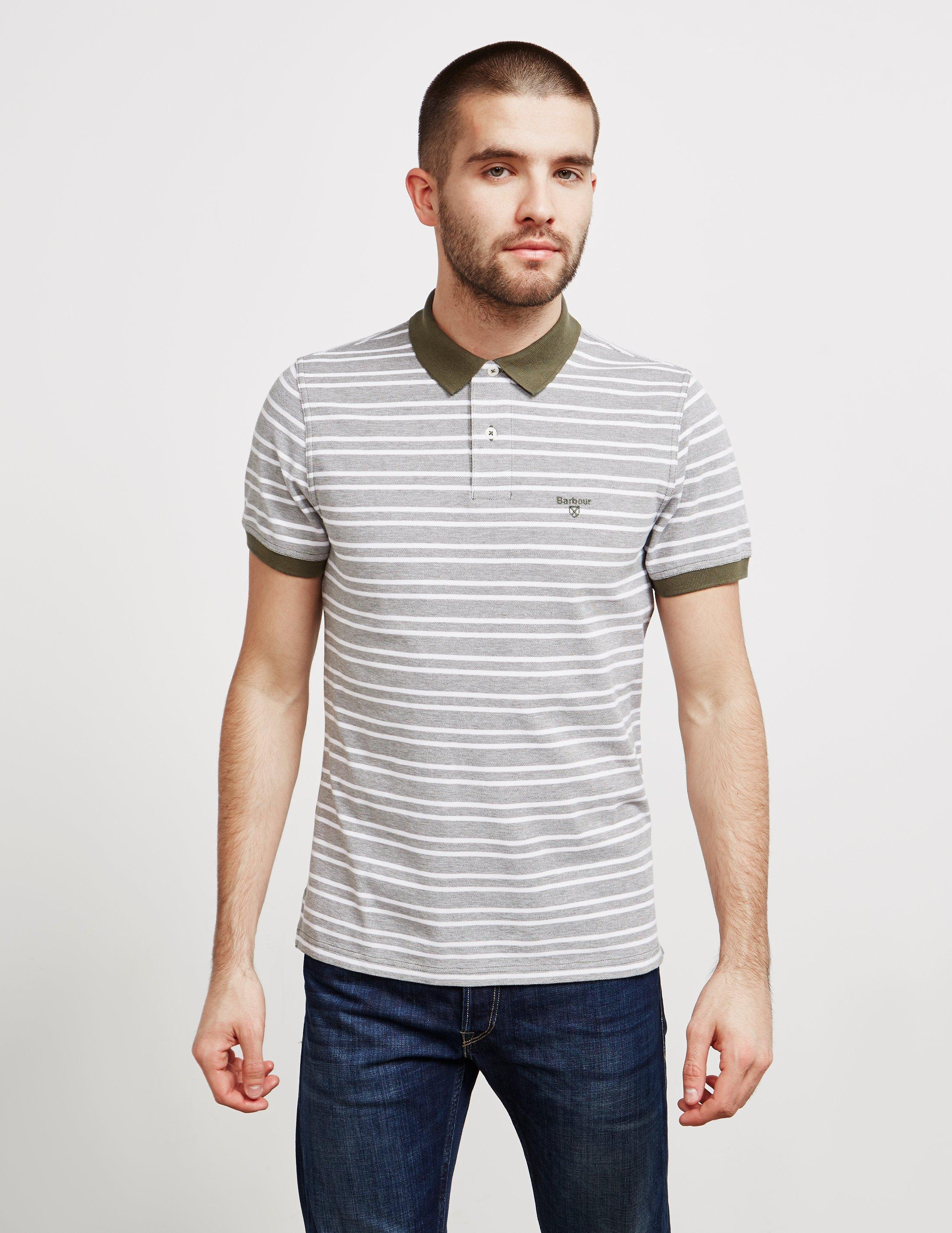 f03a02c19639 Lyst - Barbour Mens Bedford Stripe Short Sleeve Polo Shirt Green in ...