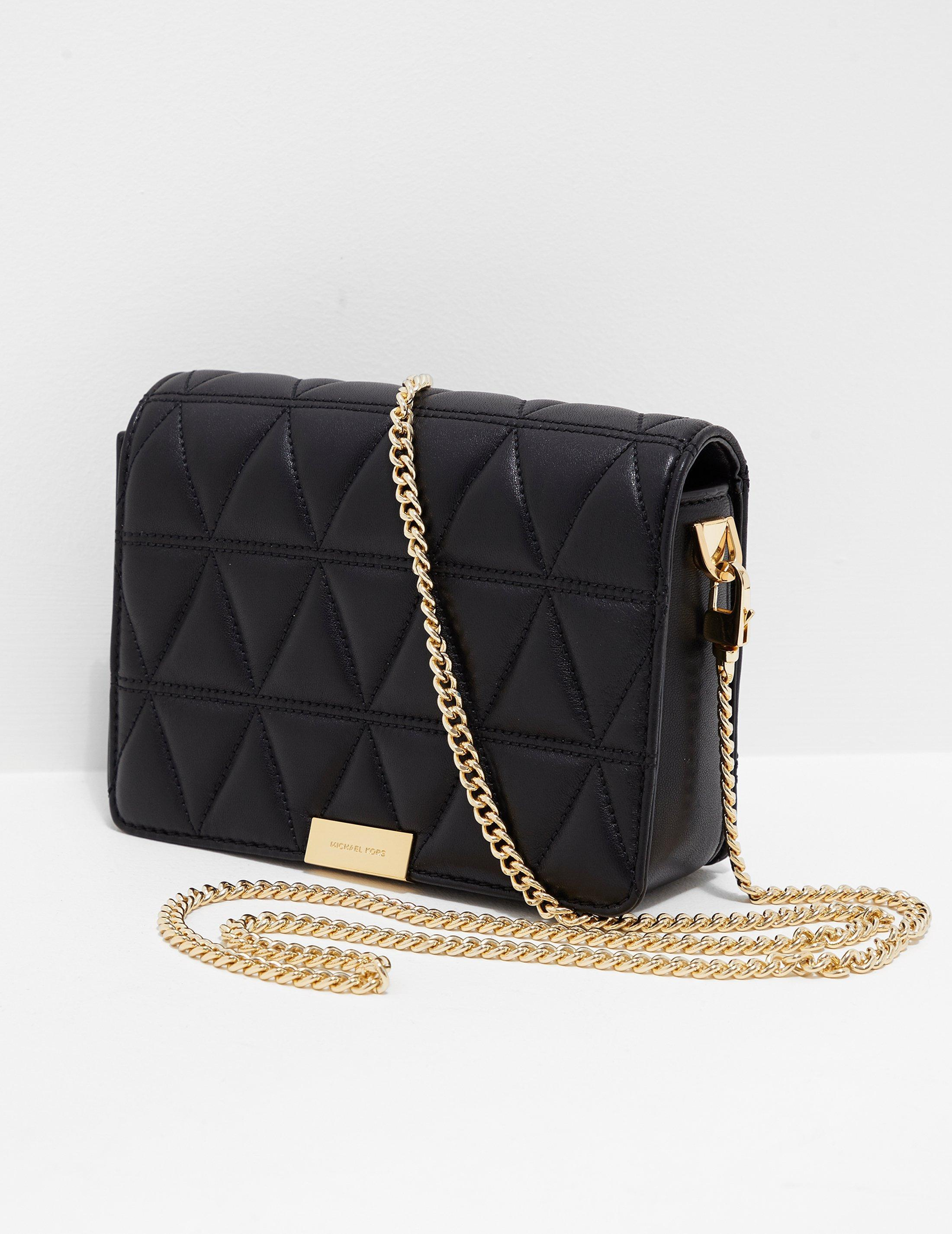 6a4a07757d ... sale lyst michael kors womens jade quilted clutch bag black gold in  black be97a e4fbc