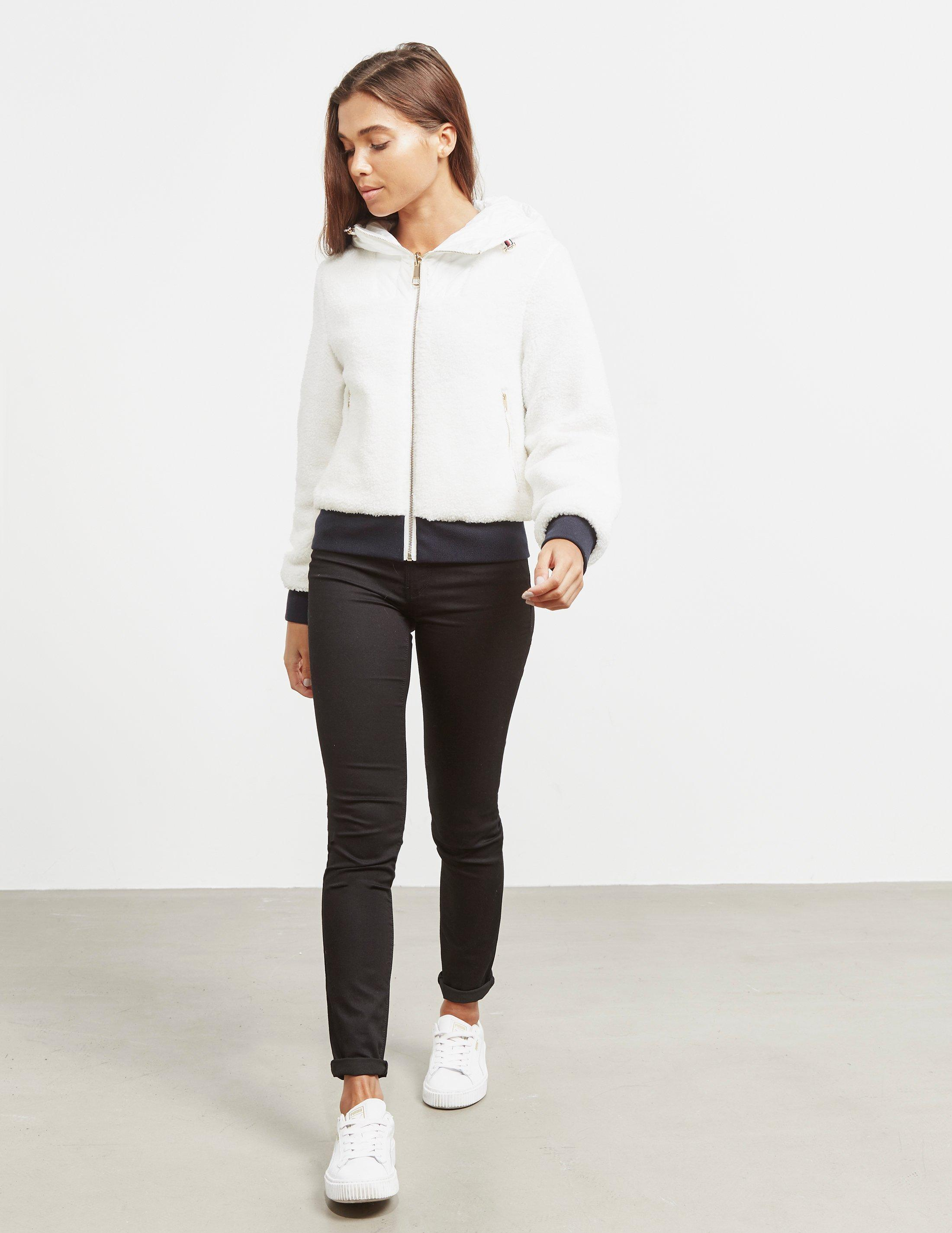 333b20ca8df2 Tommy Hilfiger Annabel Terry Reversible Bomber Jacket White in White ...