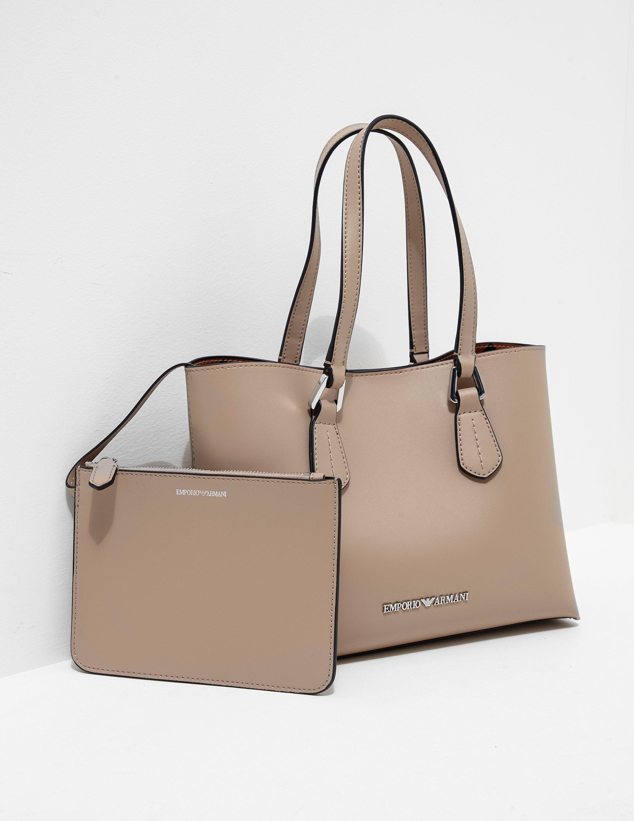 70e50af5f946 Lyst - Emporio Armani Womens Wilma Medium Shopper Bag Beige in Natural