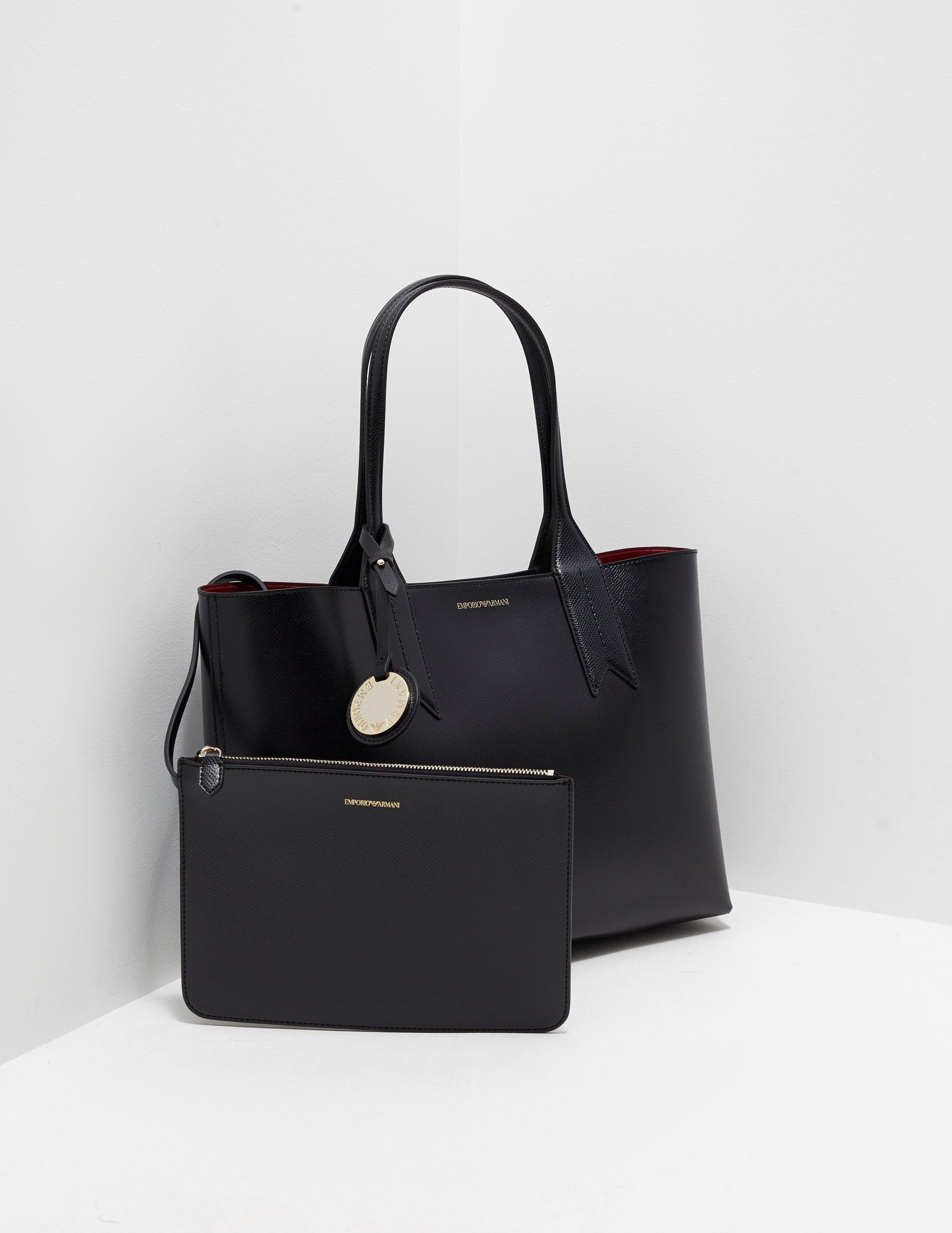 Emporio Armani Borsa Large Shopper Bag Black in Black - Lyst f361c50dc9c64