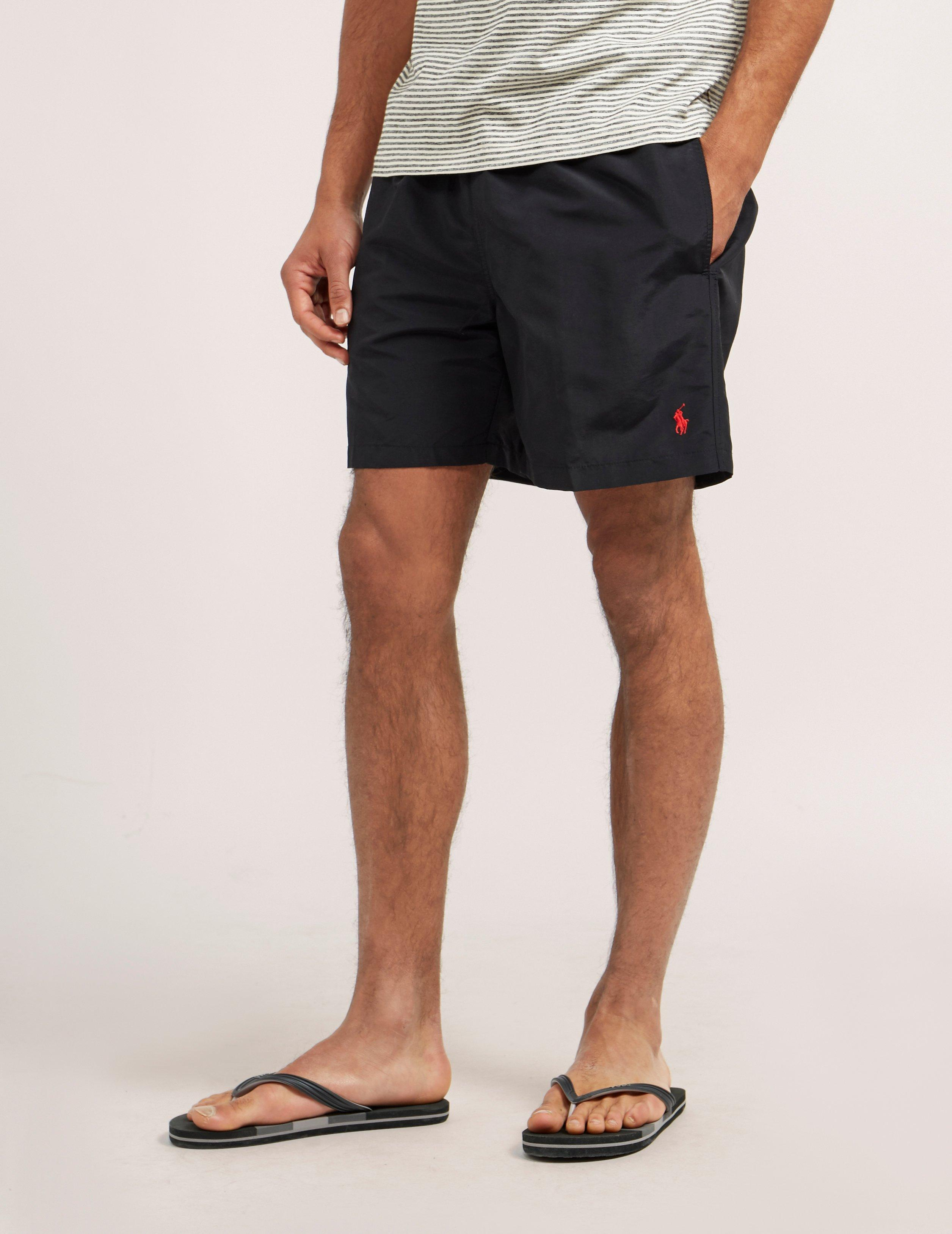 87ebb43c94 Polo Ralph Lauren Mens Hawaiian Shorts Black in Black for Men - Lyst