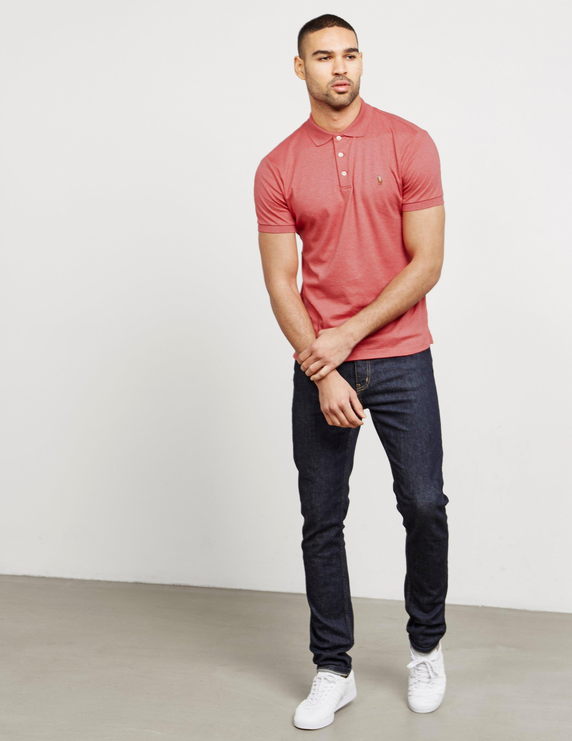 Lyst Polo Ralph Lauren Mens Pima Short Sleeve Polo Shirt Pink In