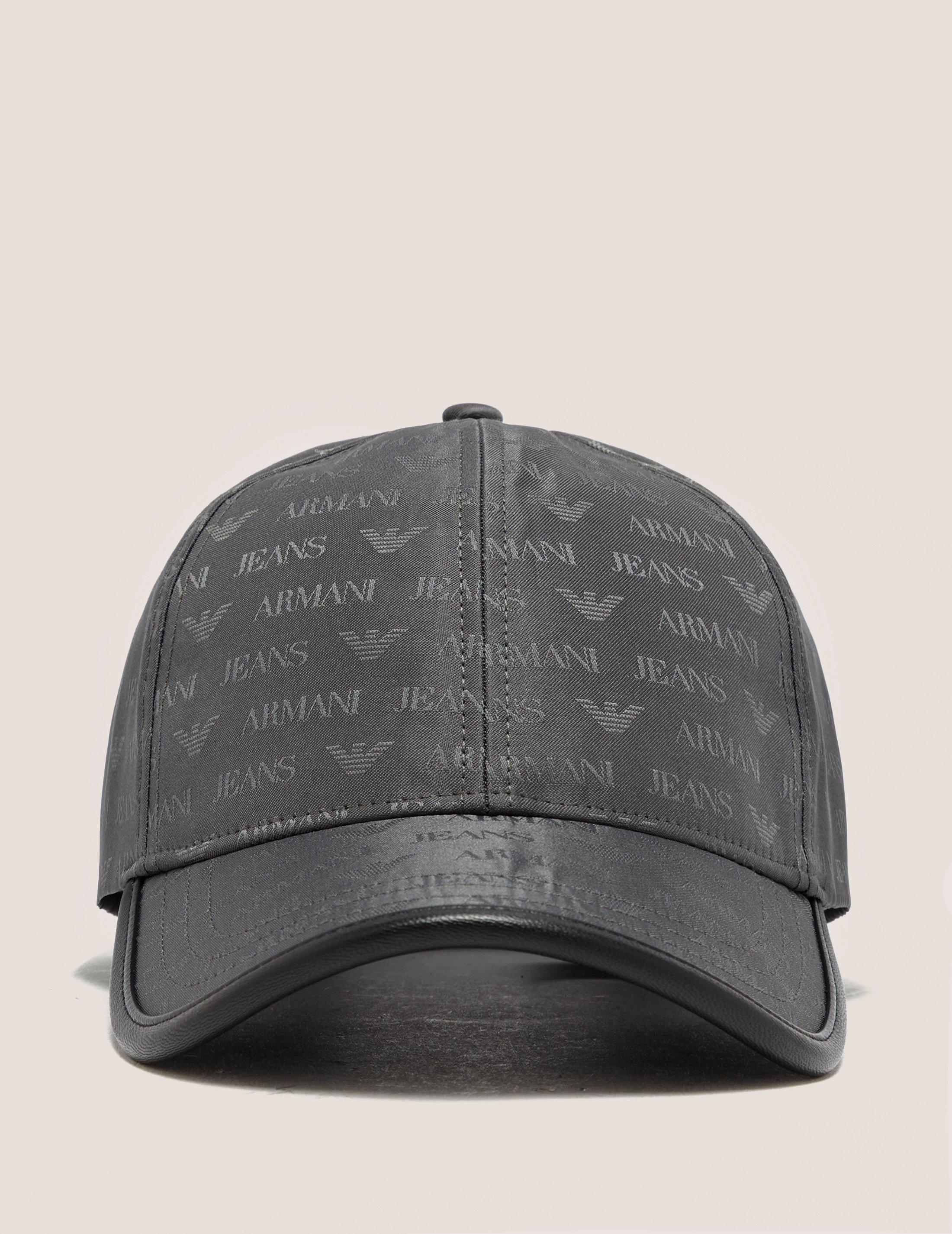 0a9860717e02a Armani Jeans Mens Nylon Print Cap Grey in Gray for Men - Lyst