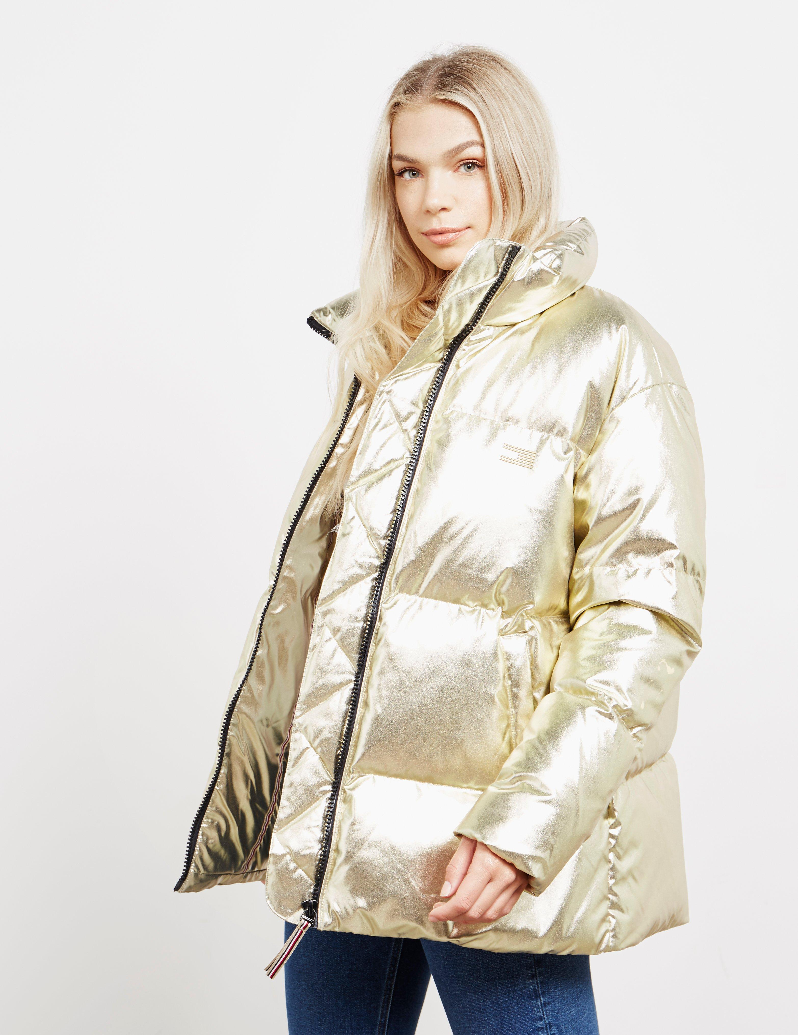 c05ab218 Tommy Hilfiger High Gloss Padded Jacket Gold in Metallic - Save 49 ...