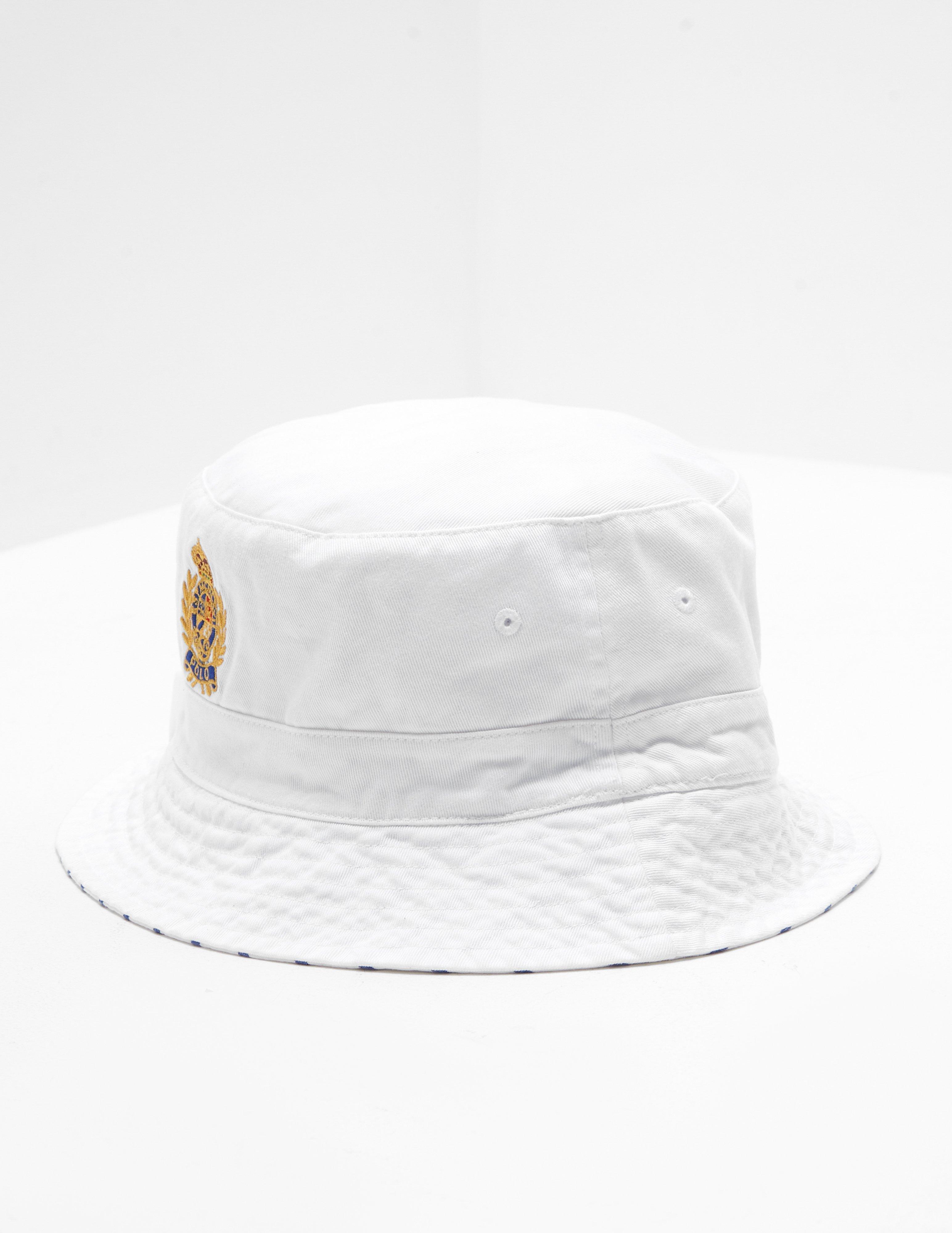 5650a79c1fda2 Polo Ralph Lauren Bear Reversible Bucket Hat White in White for Men - Lyst