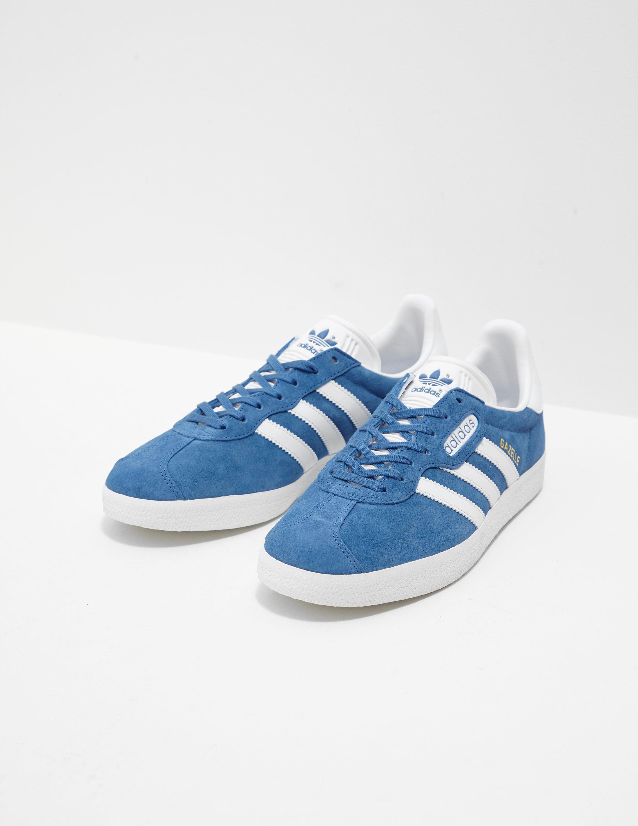 Lyst - Adidas Originals Mens Gazelle Super Blue in Blue for Men ... 4088338e7
