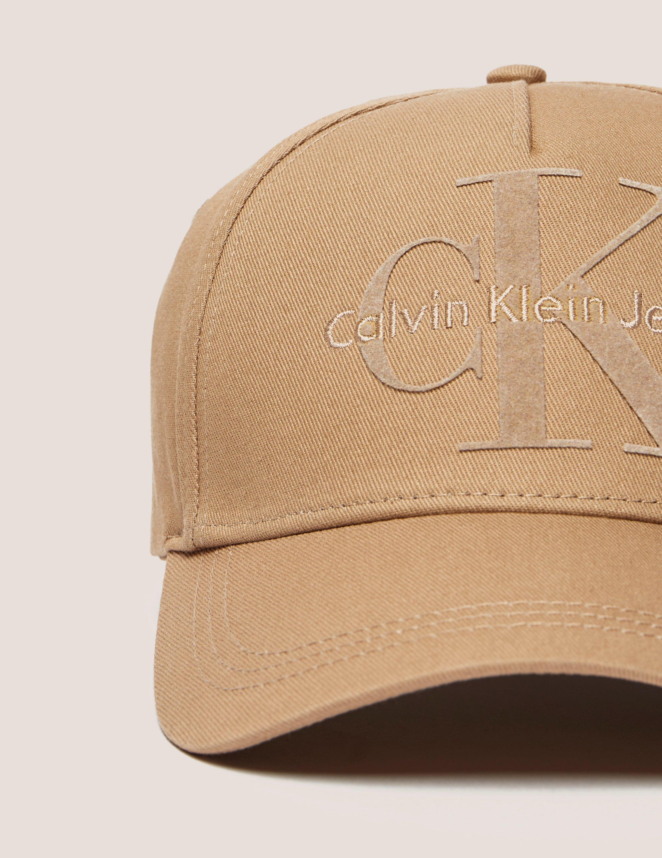 ddc0d7a96d6f1 CALVIN KLEIN 205W39NYC Mens Re-issue Baseball Cap Tan in Brown for ...