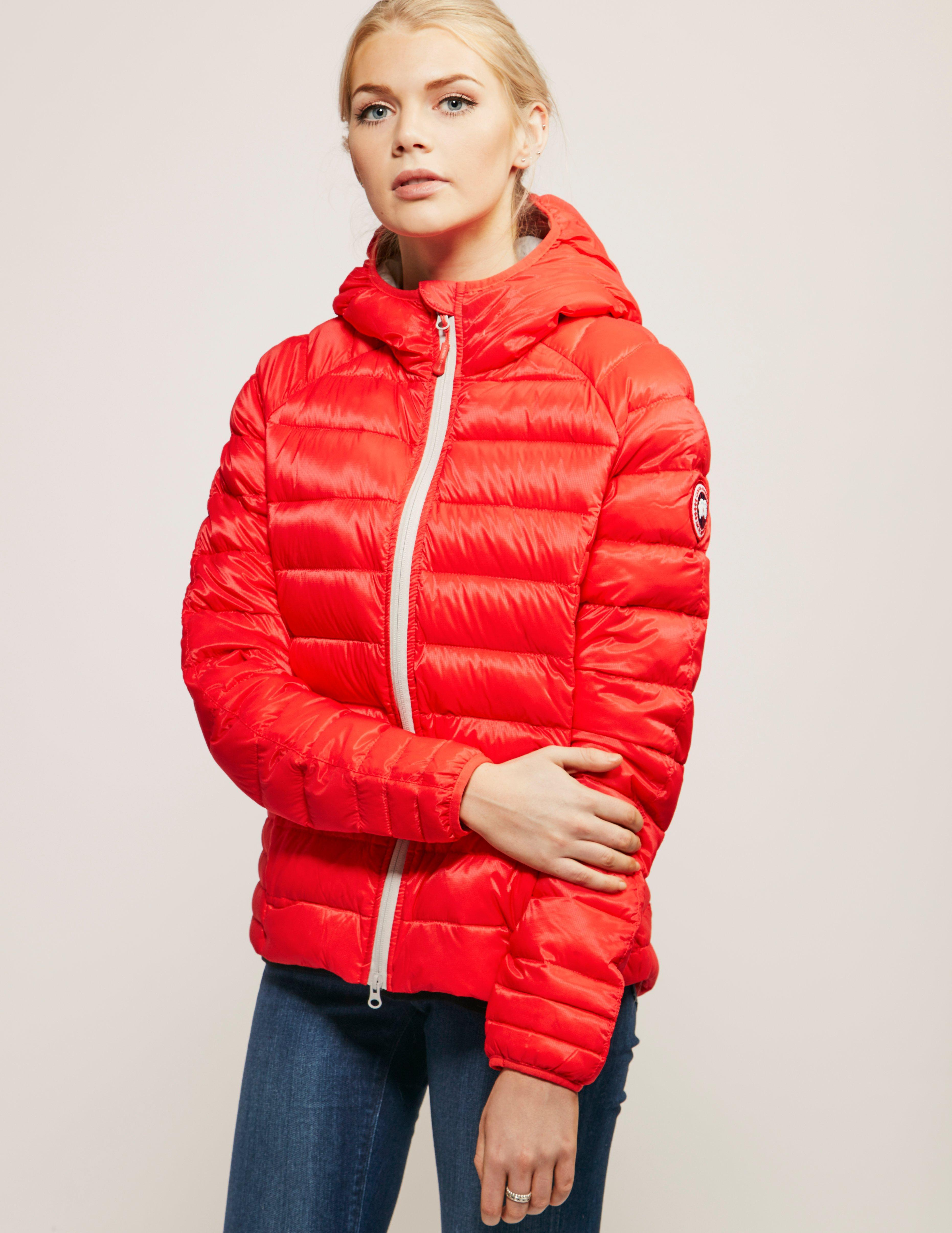 Lyst - Canada Goose Womens Brookvale Padded Hoody Jacket Coral Pink ... 172725948