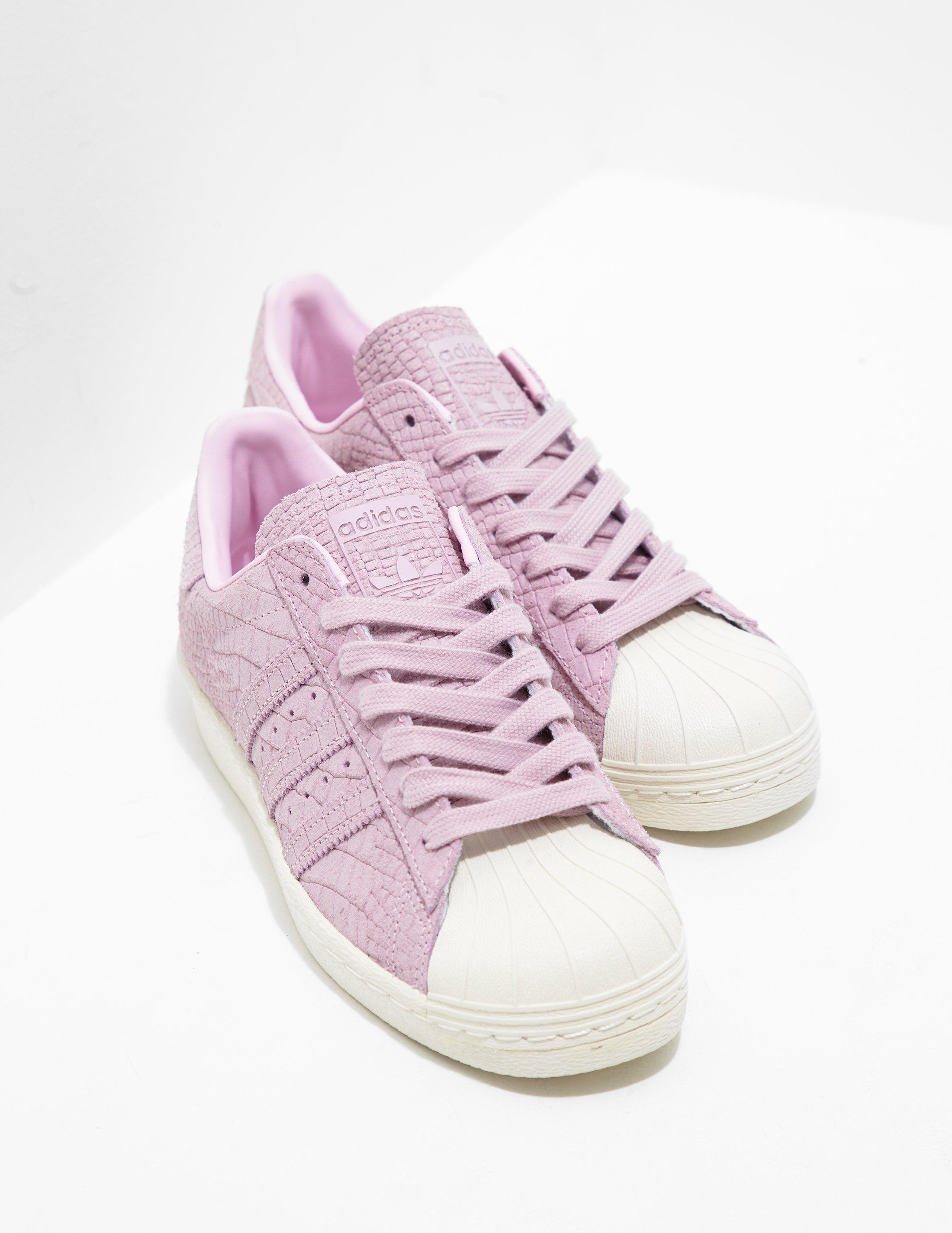 dd2d275fd011 Lyst - adidas Originals Superstar Croc Pink in Pink - Save 17%