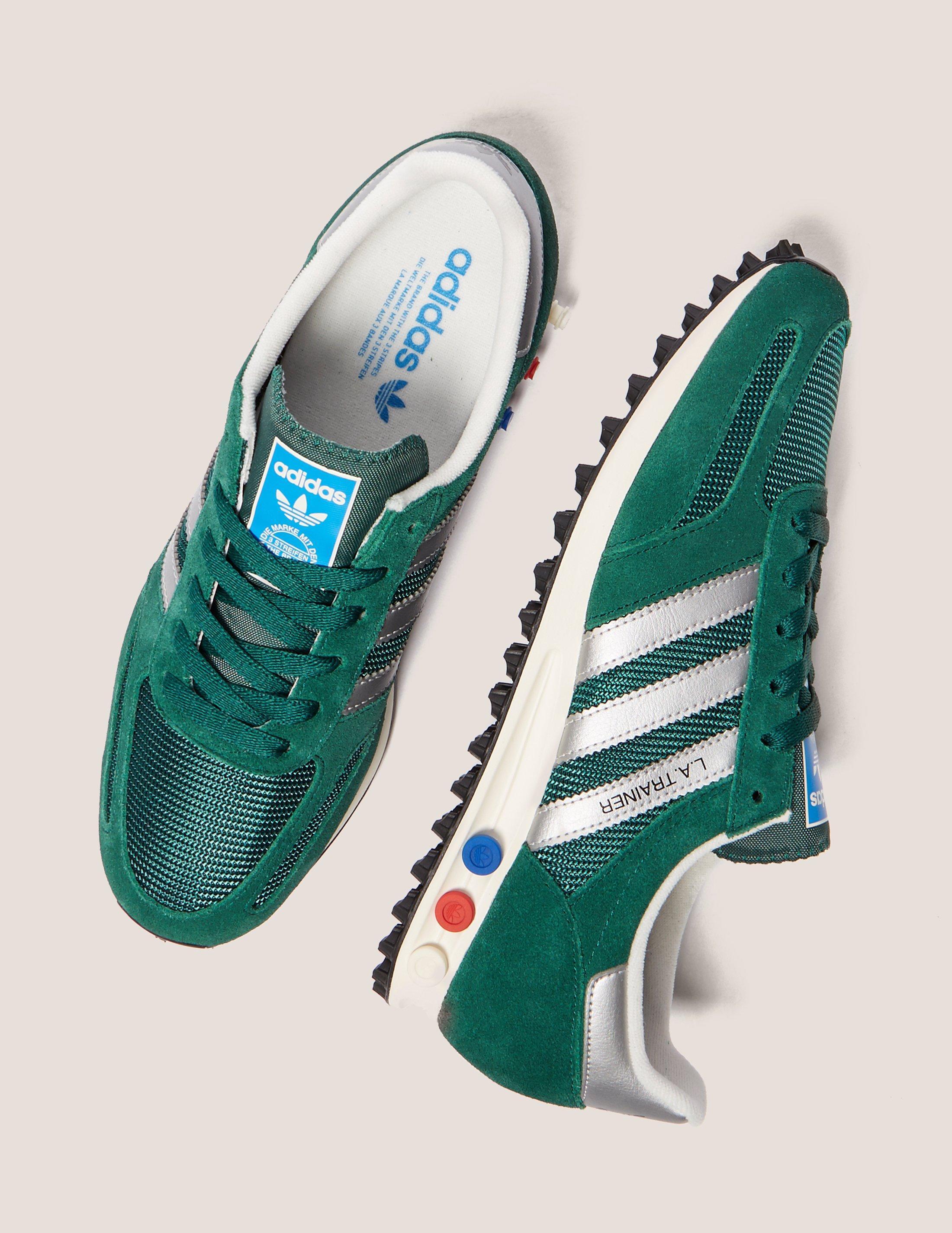 new concept 61be0 ebc0e Lyst - Adidas Originals Mens La Trainer Og Green in Green fo