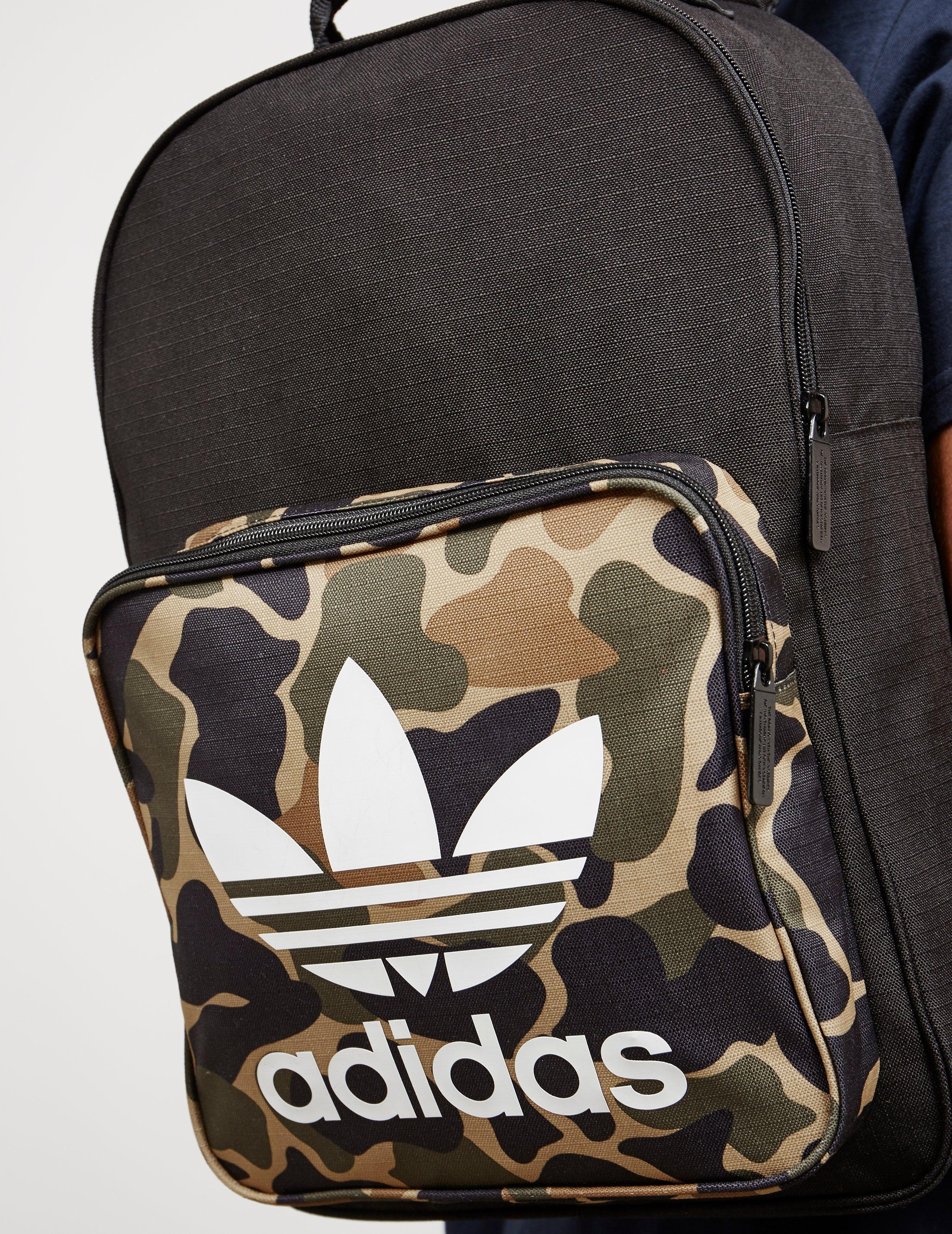 c64c7f339b adidas Originals Womens Trefoil Backpack Camo black in Black for Men ...