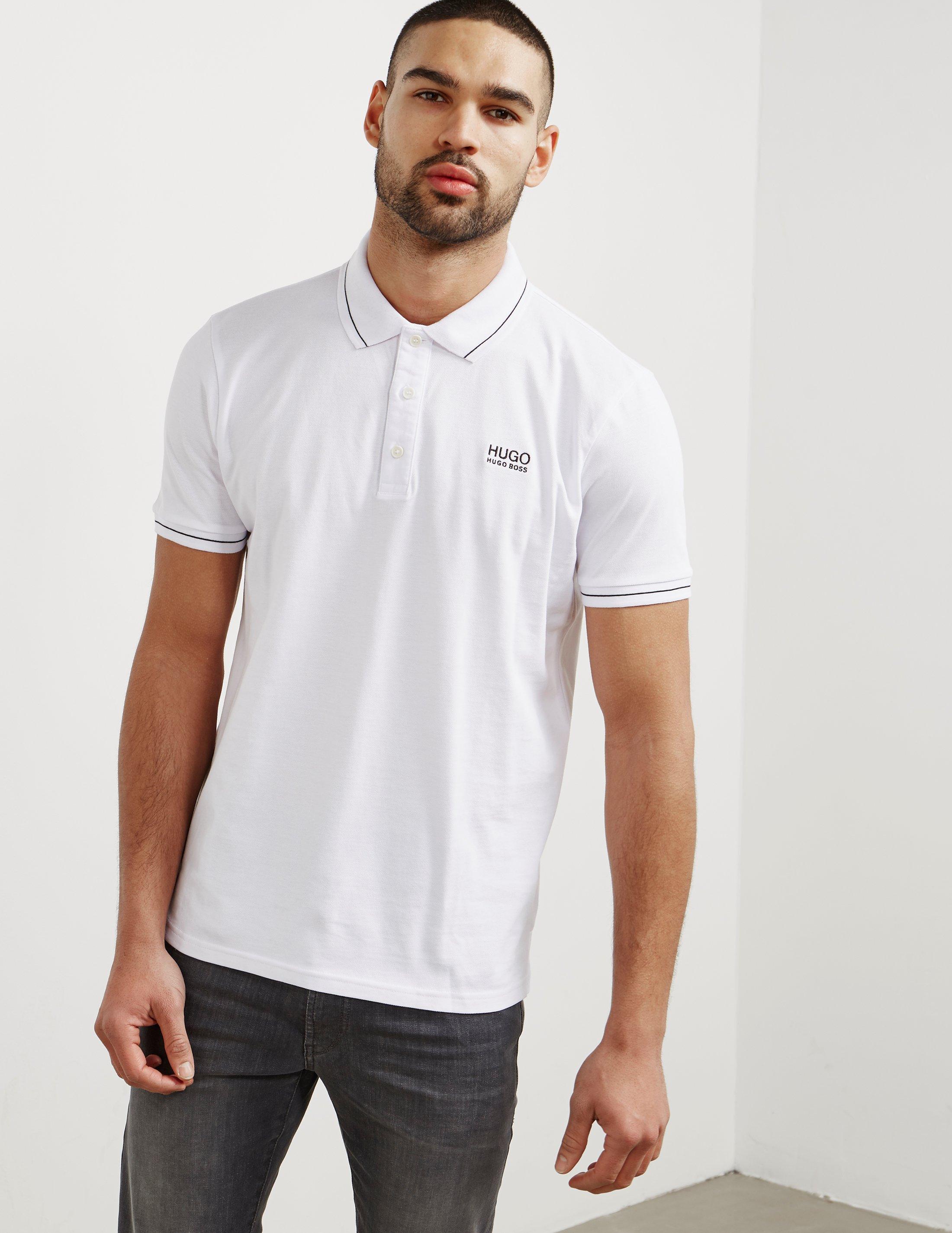 04e1206f HUGO Mens Daruso Short Sleeve Polo Shirt White in White for Men - Lyst