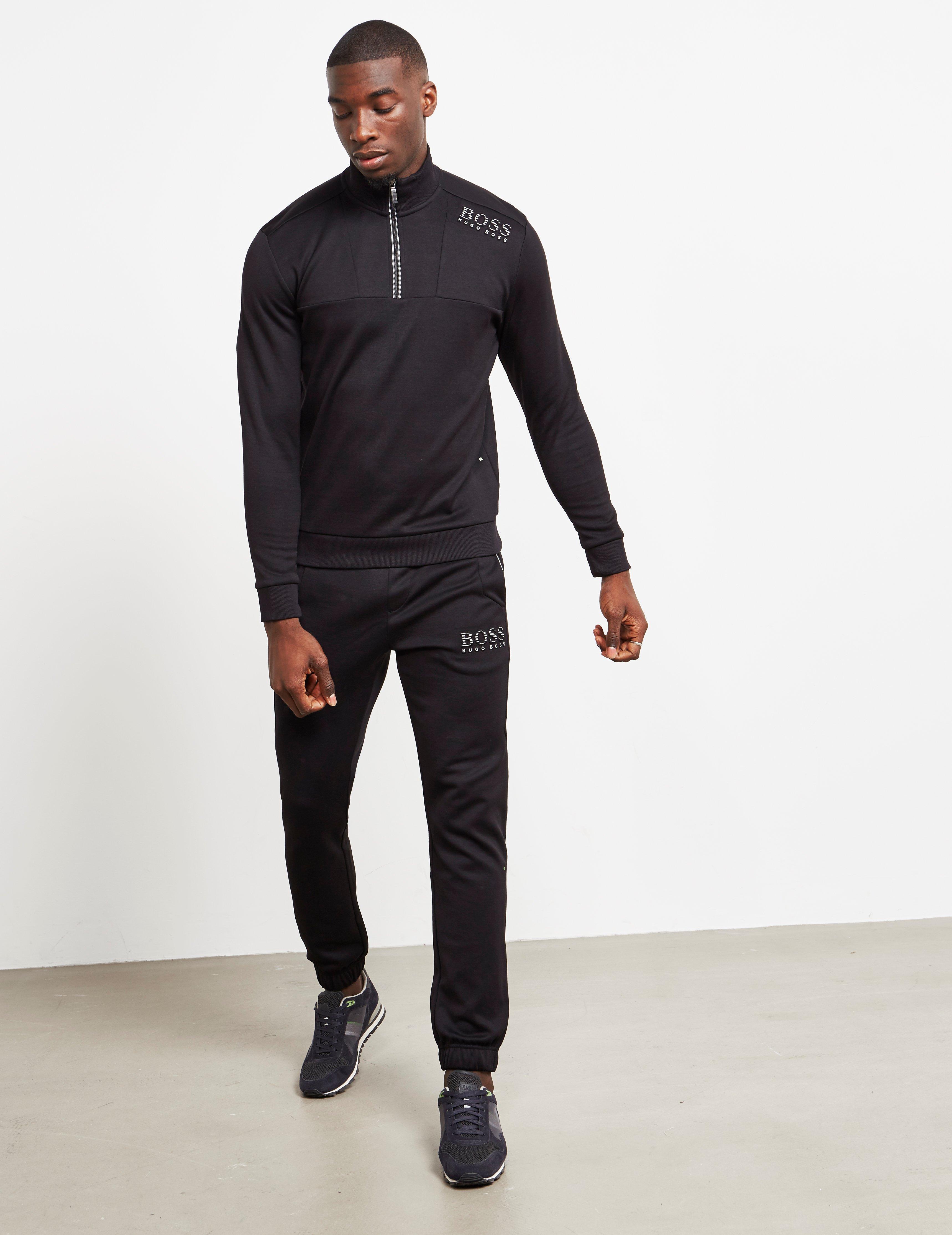 18856c2c Lyst - Boss Mens Half Zip Sweatshirt Black in Black for Men