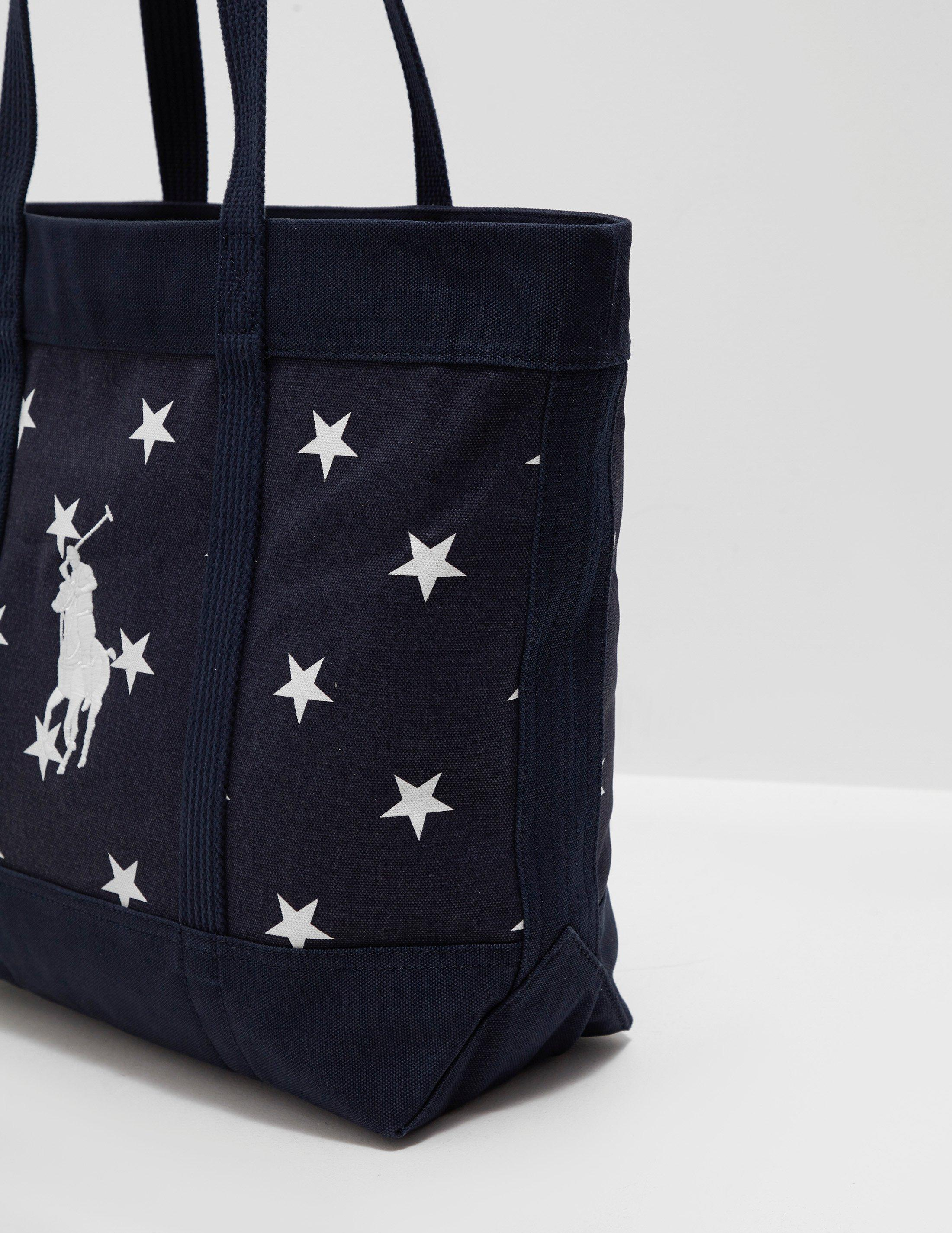 Polo Ralph Lauren Mens Stars Tote Bag - Online Exclusive Navy Blue ... 38bedc9eb8c95