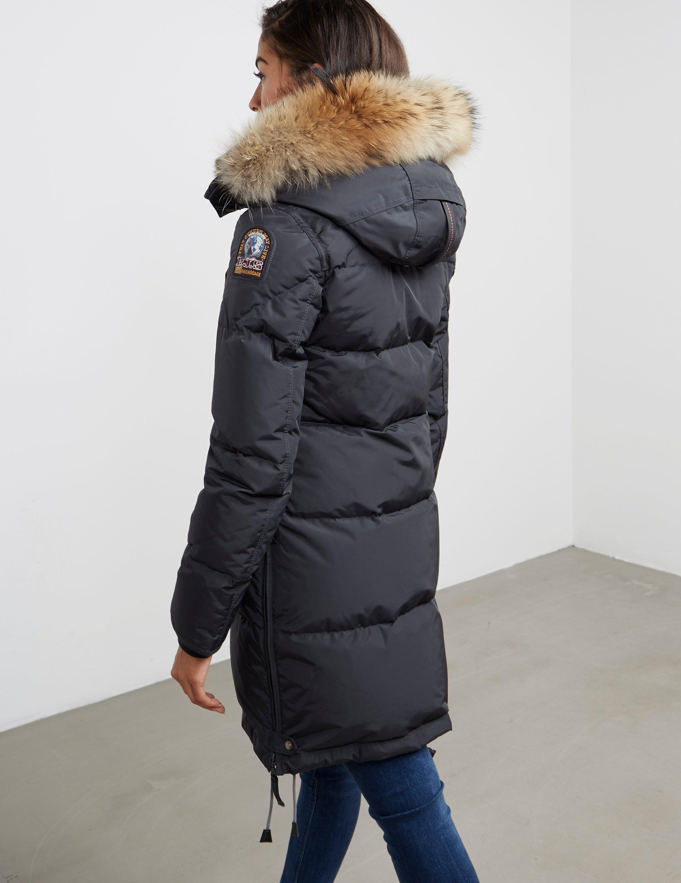 lyst parajumpers long bear jacket in gray