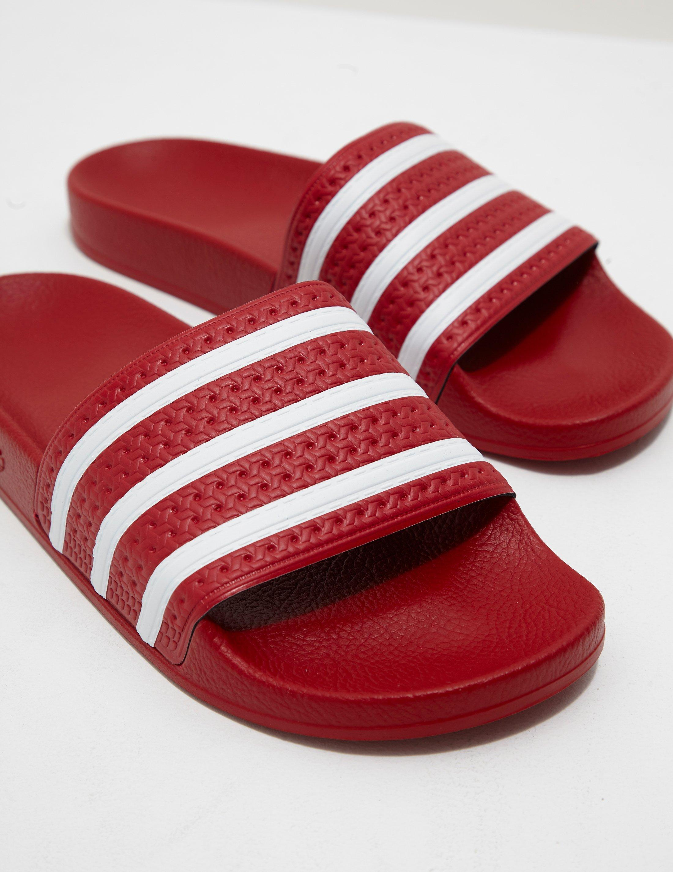 more photos cb6fb f28d0 Lyst - adidas Originals Mens Adilette Slides Red in Red for