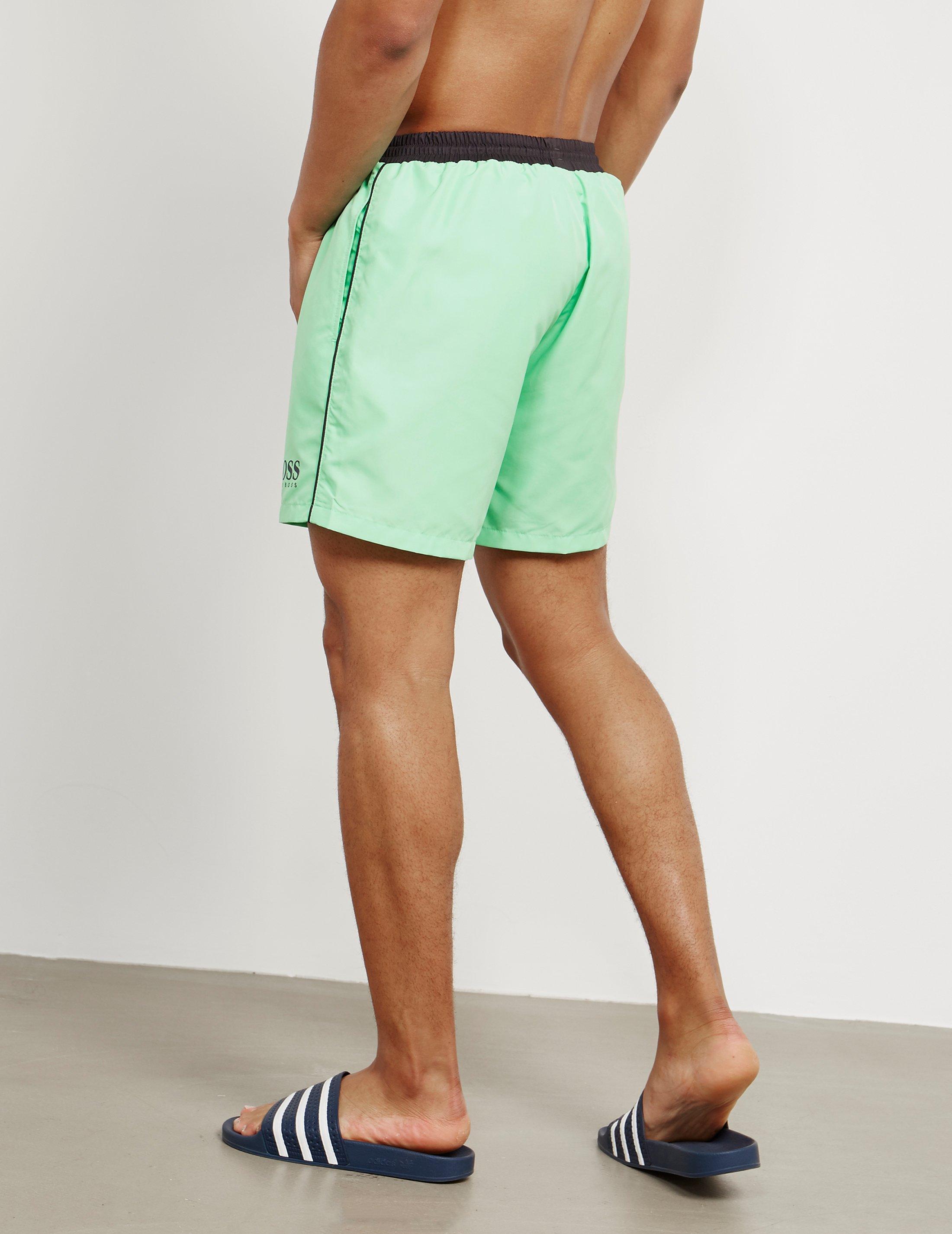 6f45ec5ed8 BOSS Mens Starfish Swim Shorts Green in Green for Men - Lyst