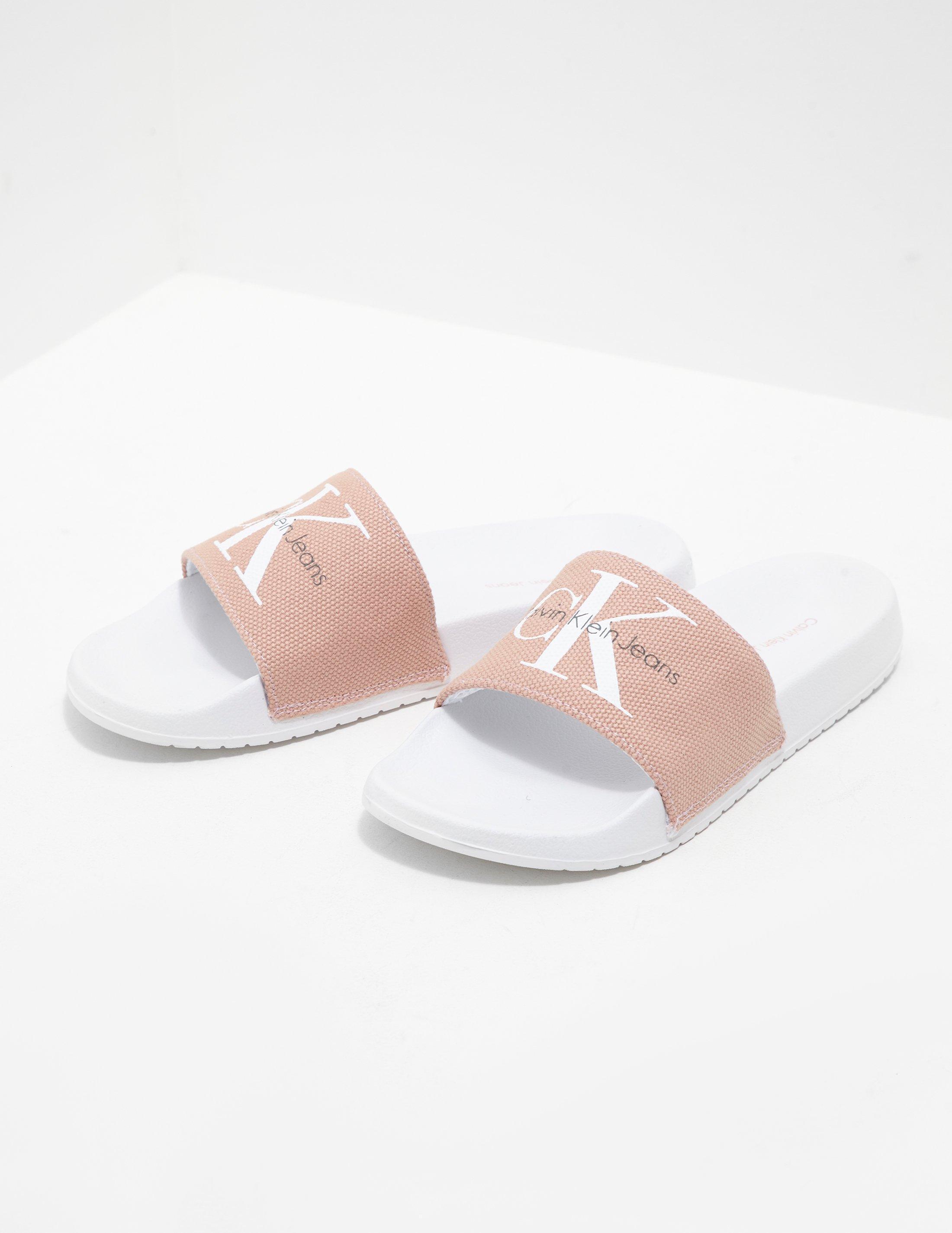 e0a5a7396c1 Lyst - Calvin Klein Chantal Slides Women s Pink in Pink - Save 5%