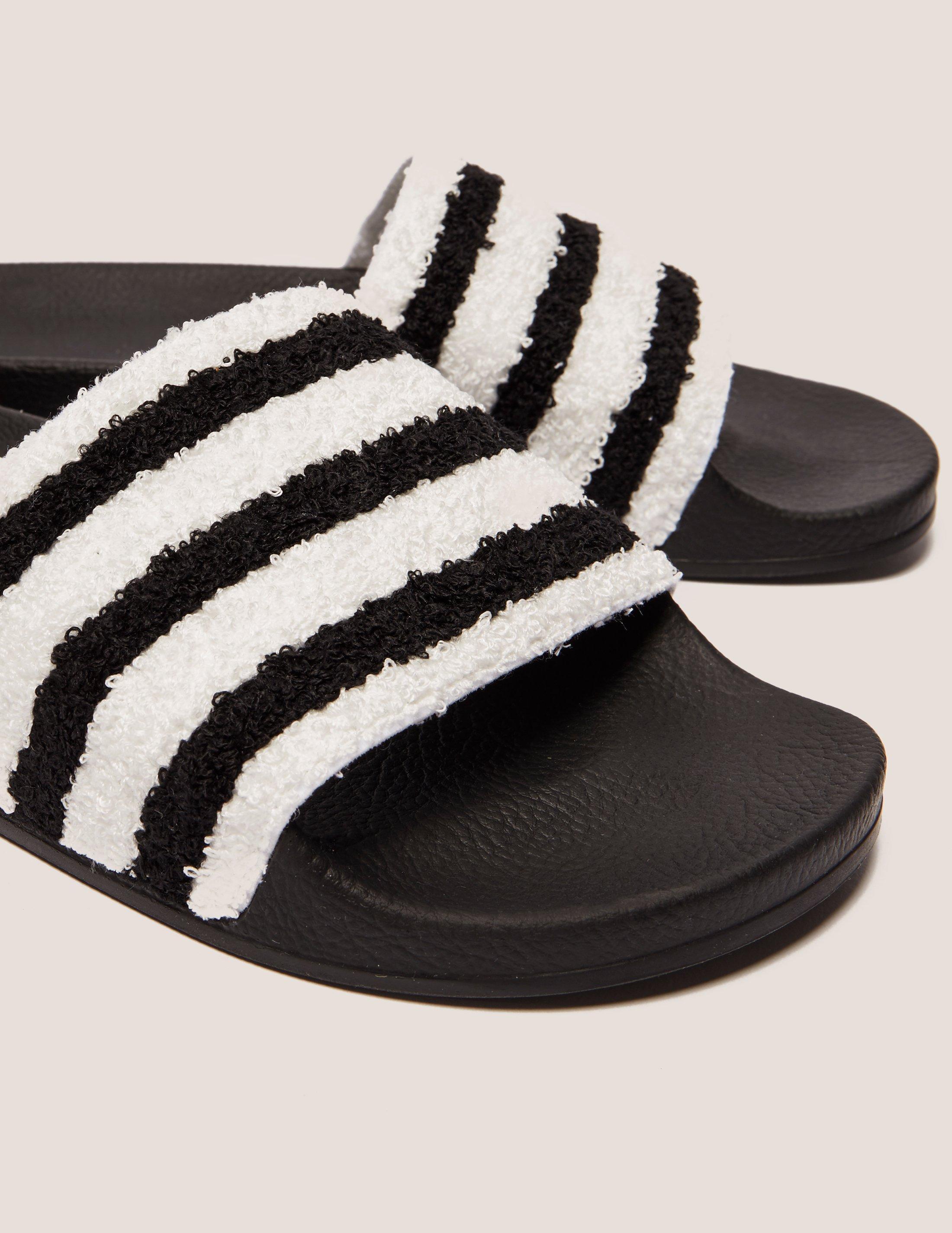 051ee9a4df1f04 Lyst - adidas Originals Adilette Towel Slides in Black for Men