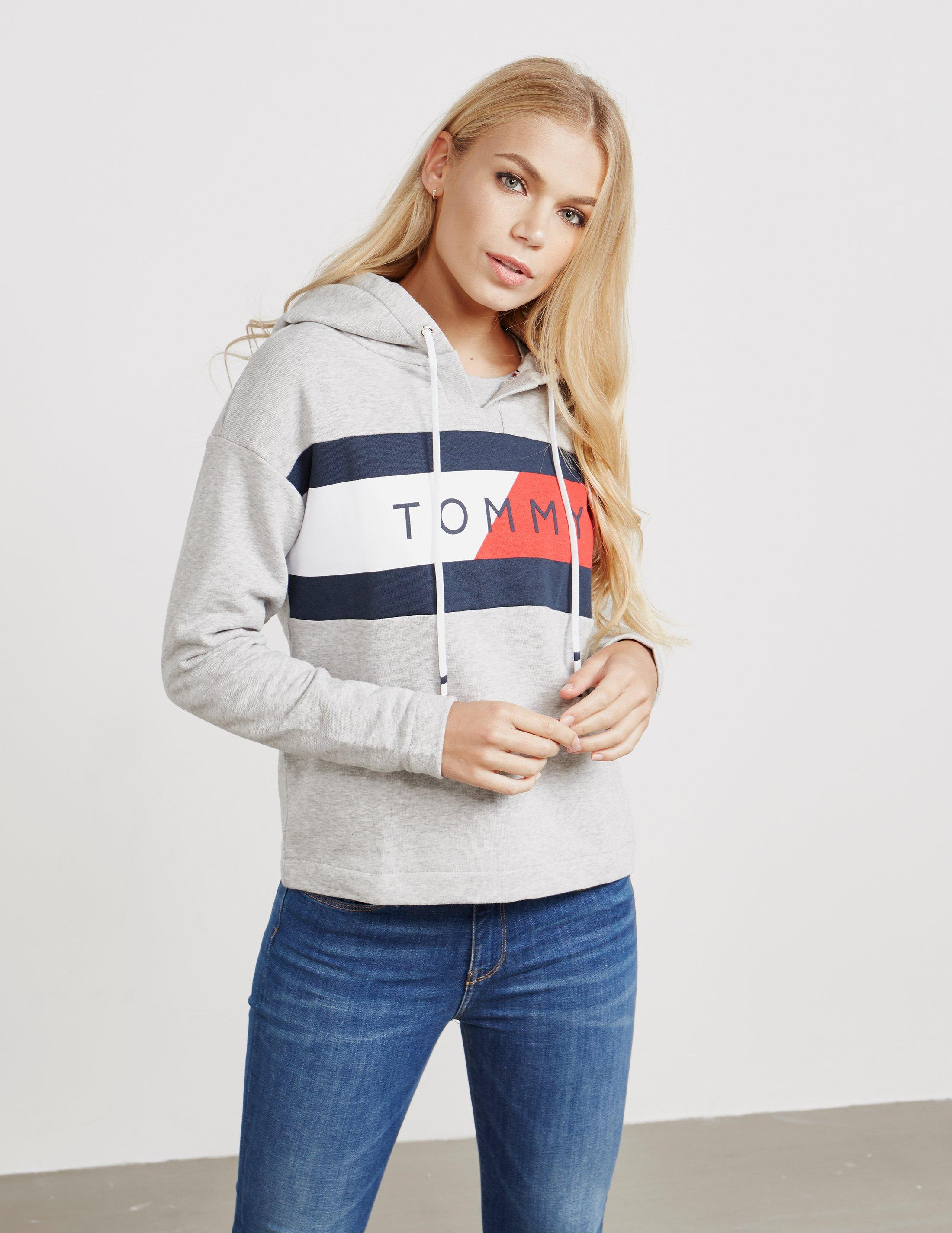 854b7e98dfd301 Tommy hilfiger womens athletic logo flag overhead hoodie grey jpg 2200x2850  Female tommy hilfiger underwear