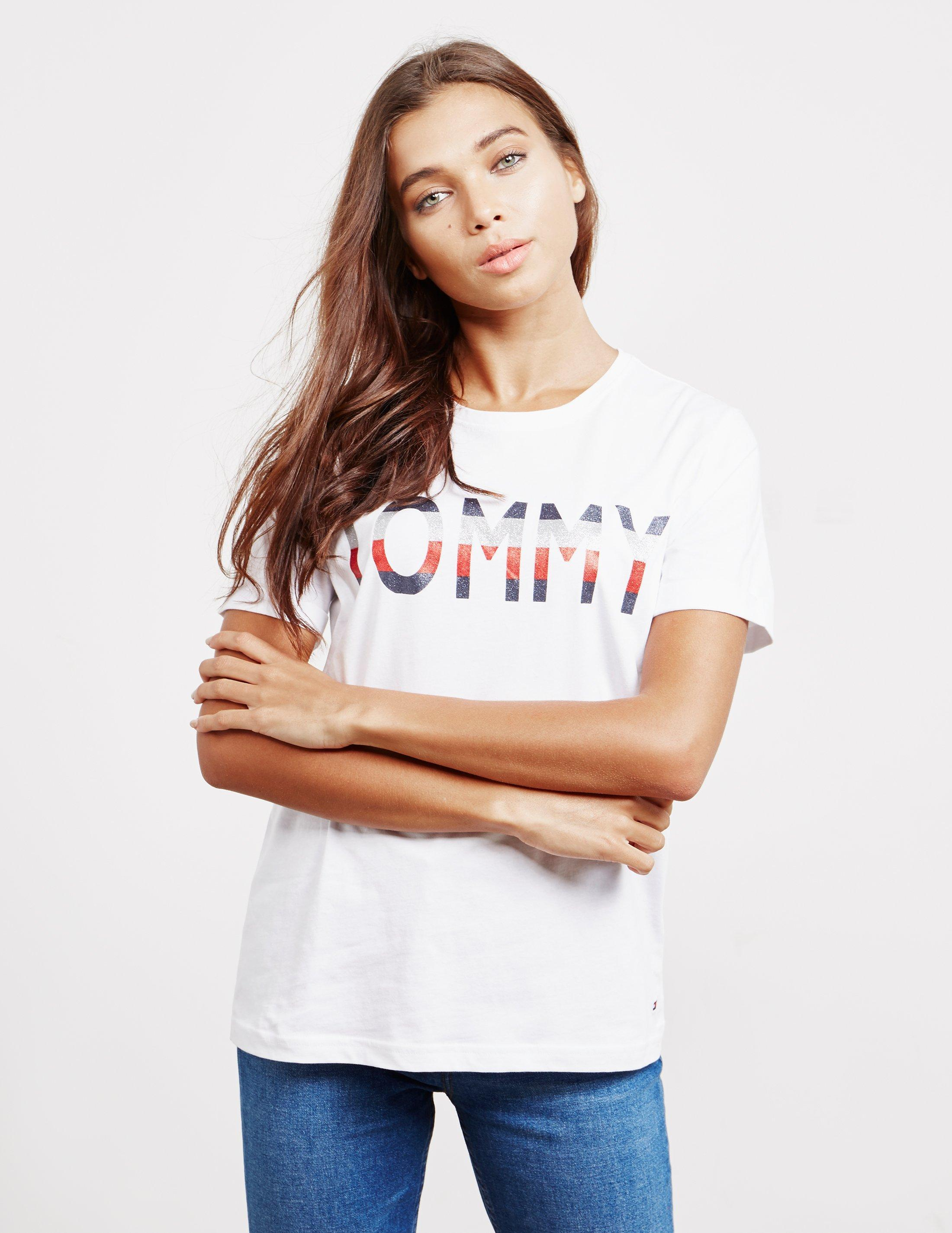 5190d3fe Tommy Hilfiger Tommy Logo Short Sleeve T-shirt White in White - Save ...