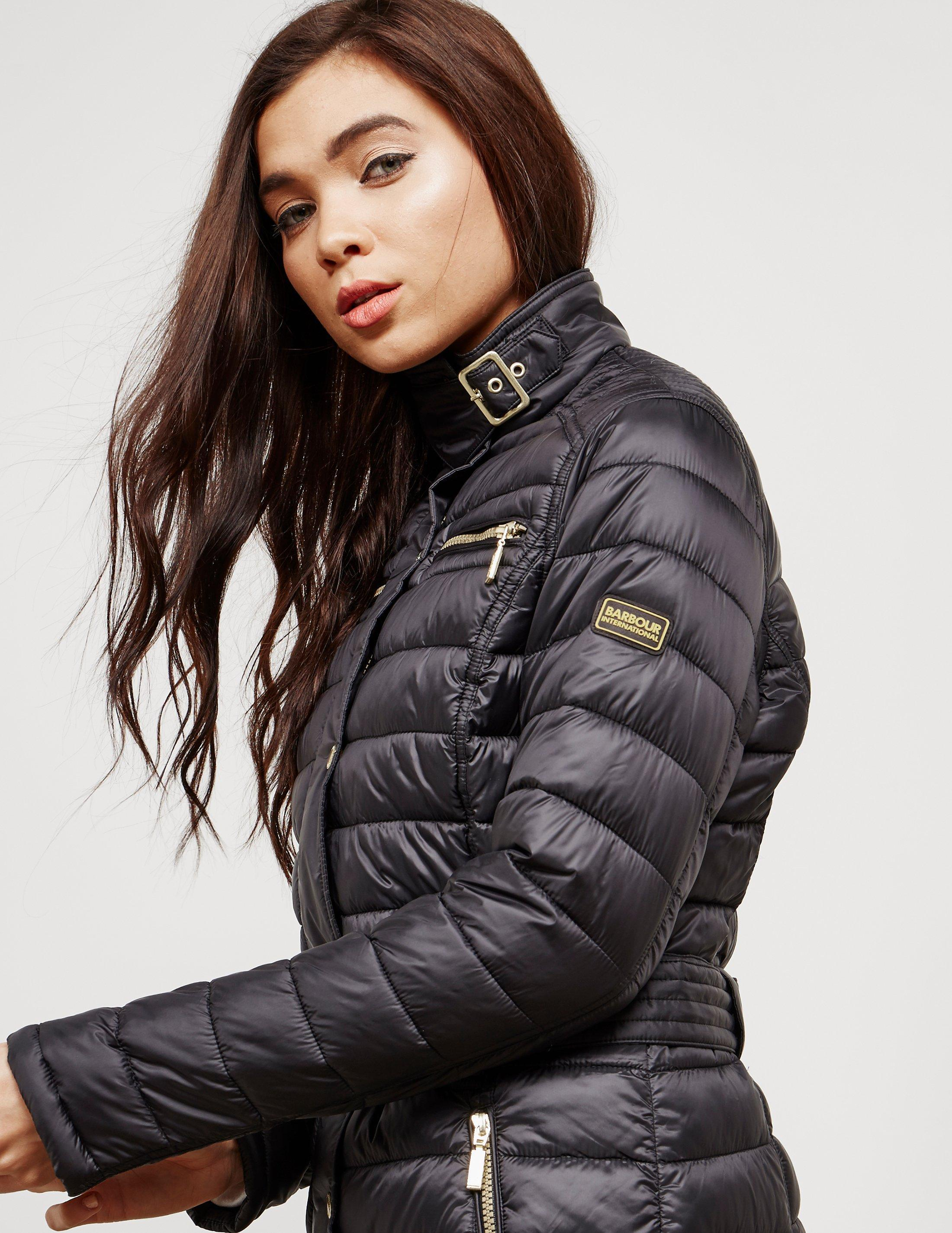 0ca2825610818 Lyst - Barbour Womens International Cadwell Quilted Jacket Black in ...