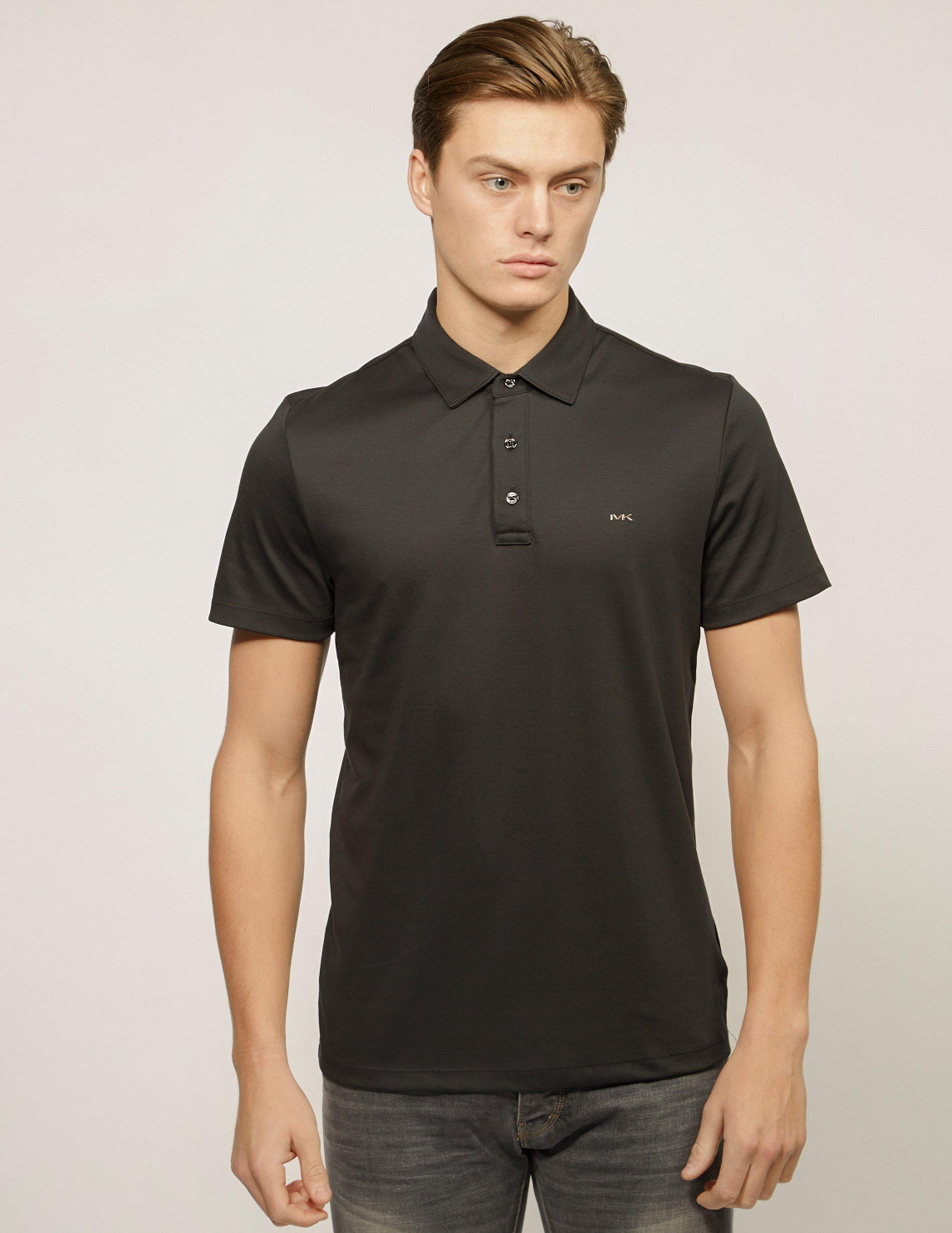 ccc1b919 Lyst - Michael Kors Mens Sleek Short Sleeve Polo Shirt Black in ...