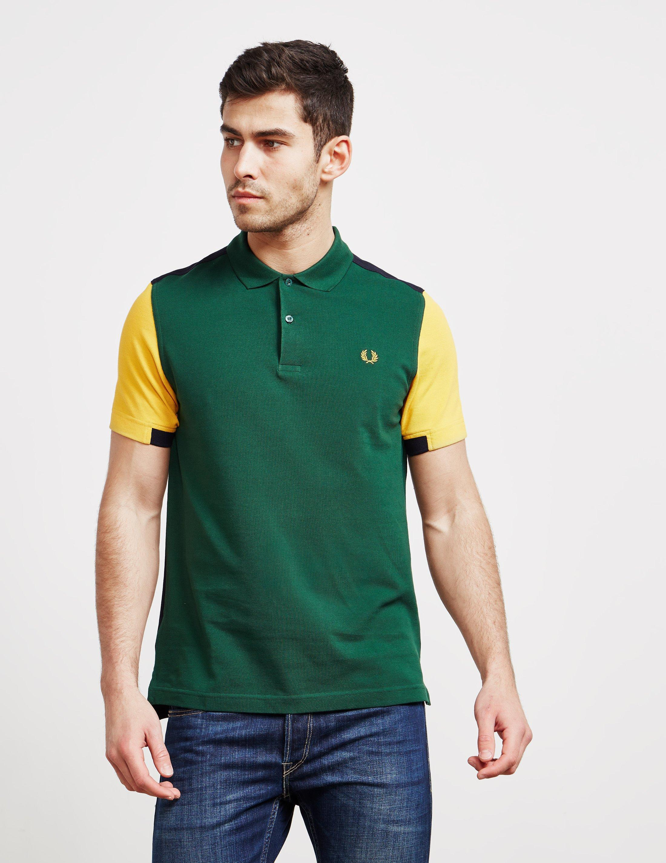 e3f3cfff3 Lyst - Fred Perry Colour Block Polo In Green in Green for Men