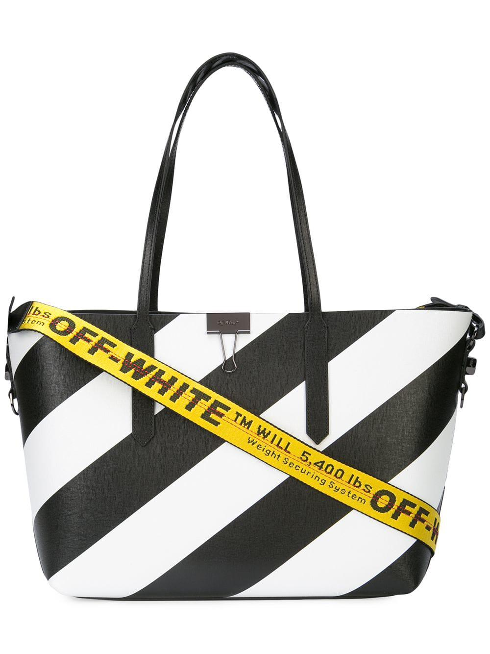 ce89d1fc4257 Lyst - Off-White c o Virgil Abloh Black And White Tote Bag in Black