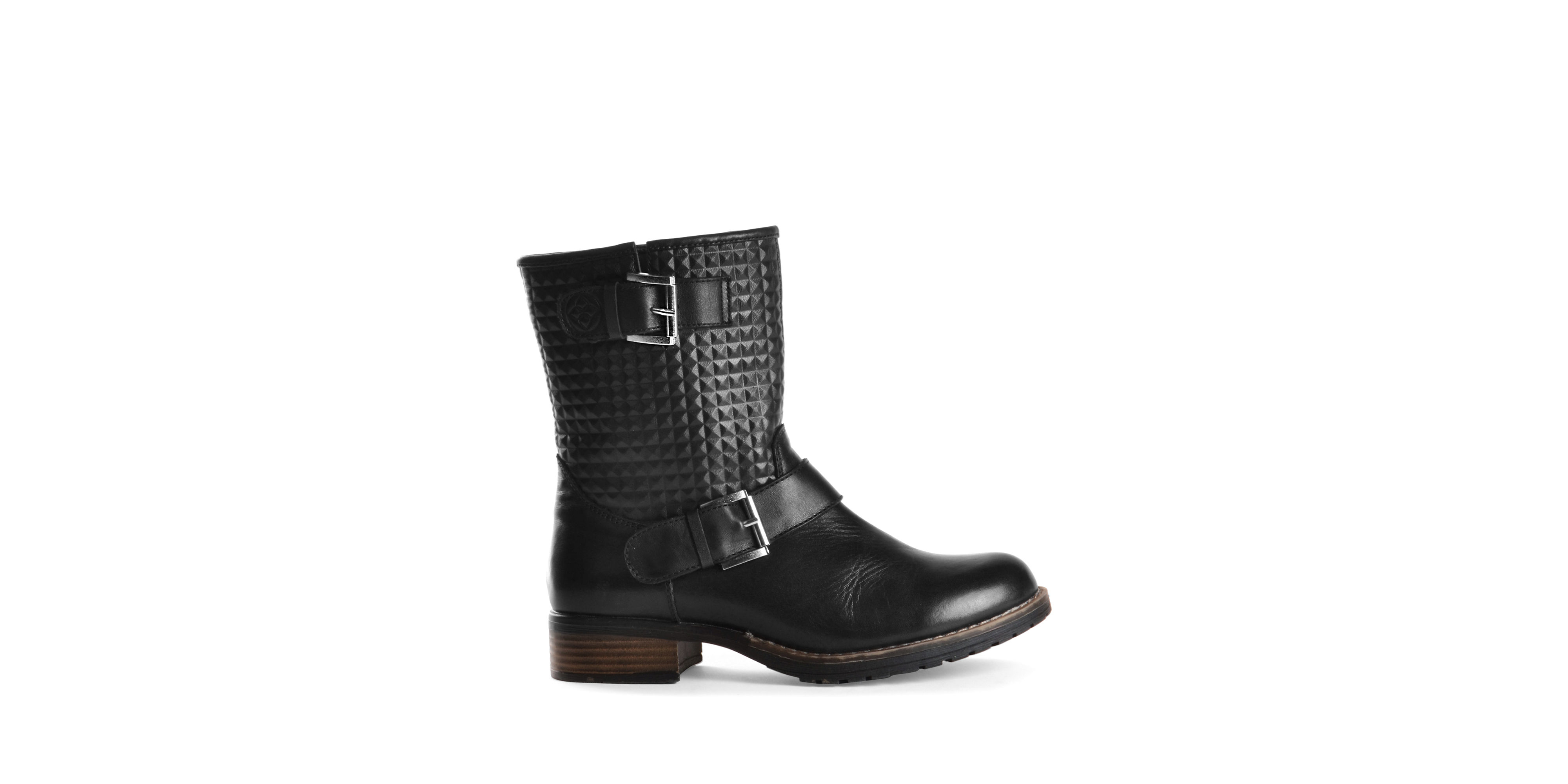 dav granada waterproof leather boots in black lyst
