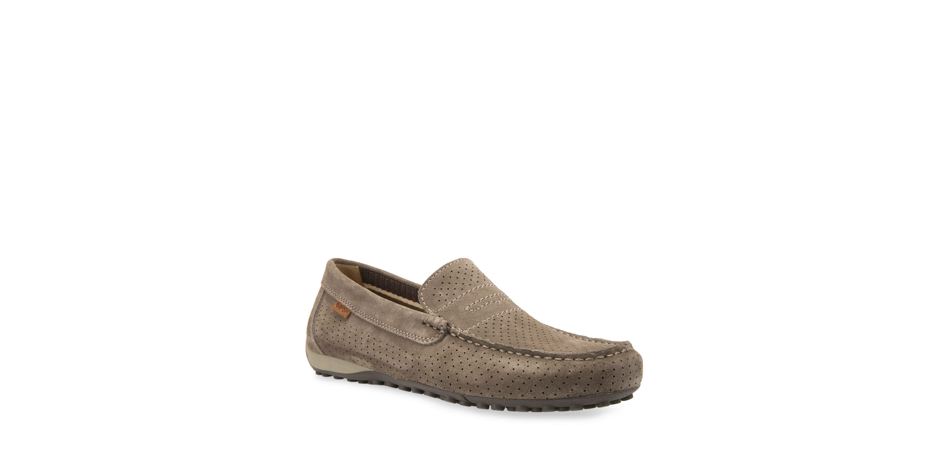 geox snake 2fit suede moccasins in brown for dove