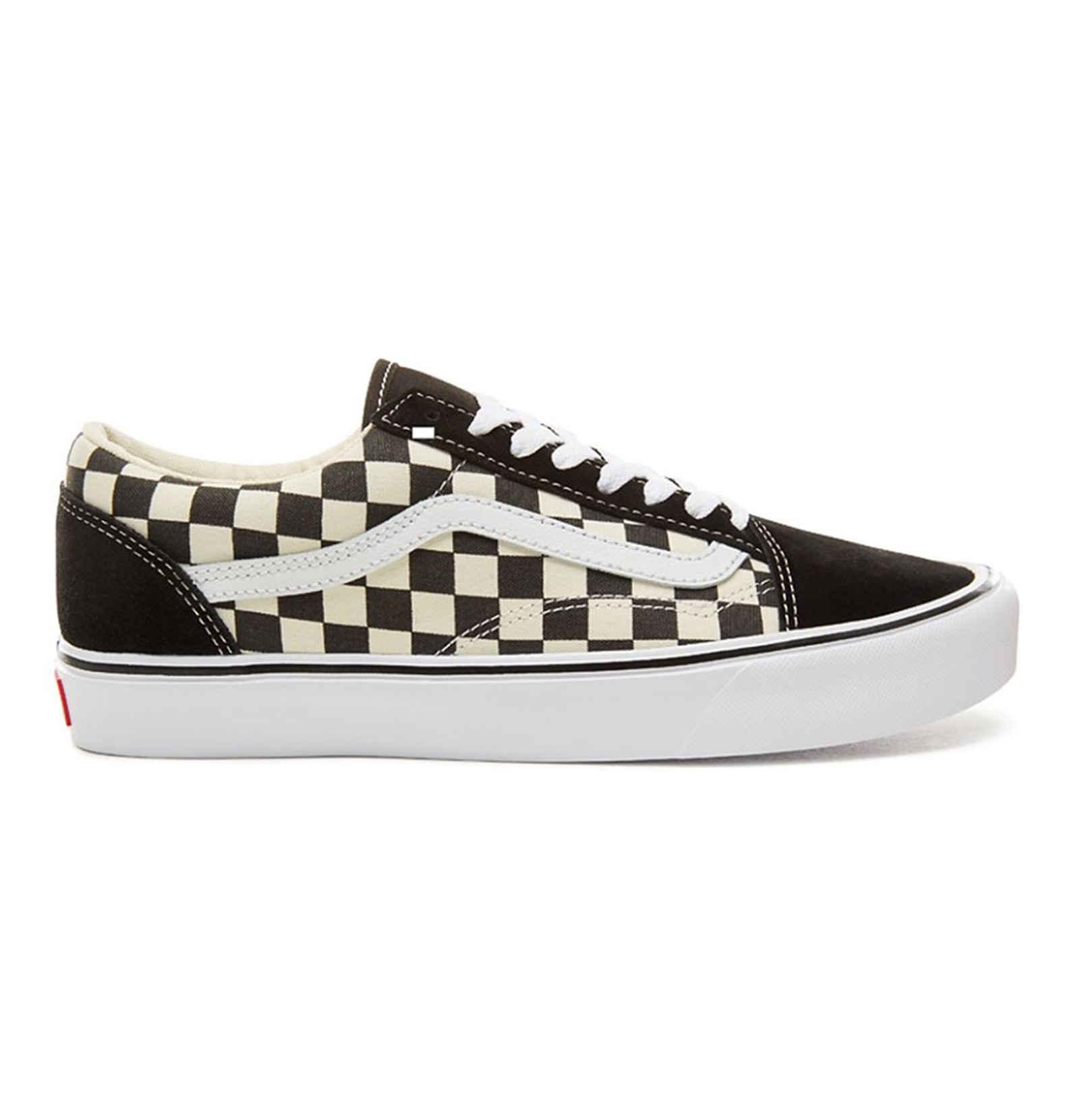d138b258e64 Lyst - Vans Checkerboard Old Skool Lite Sneakers in het Wit voor heren