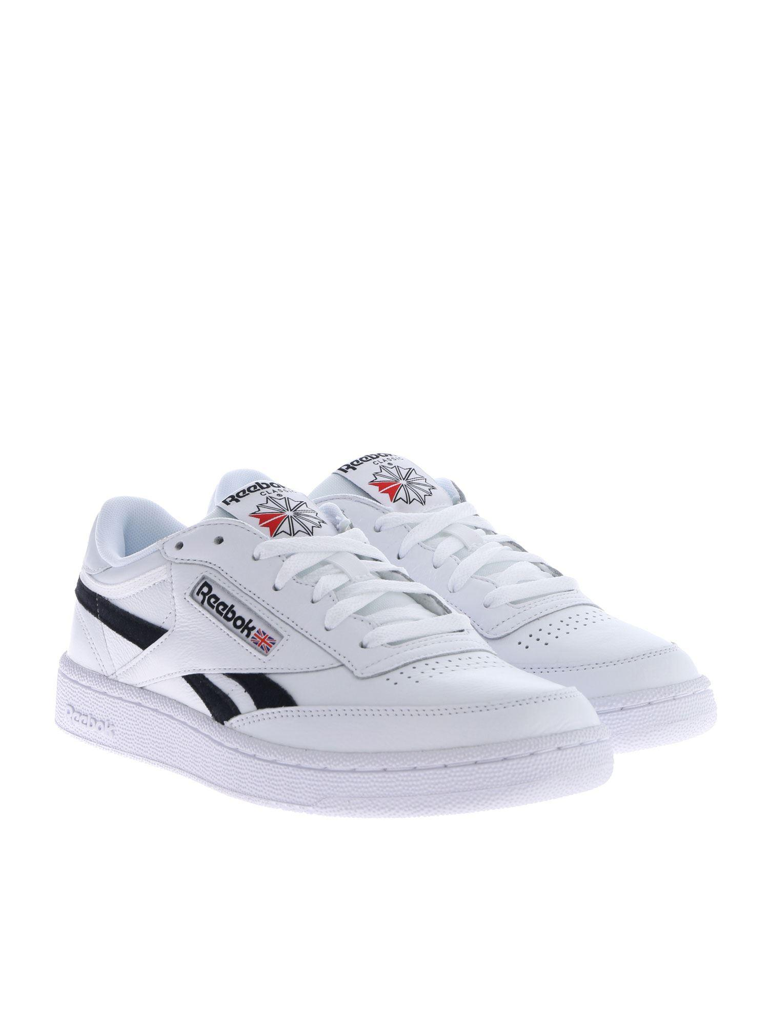 ffc70e318e Lyst - Reebok Revenge Plus Mu Sneakers In White And Black in White for Men