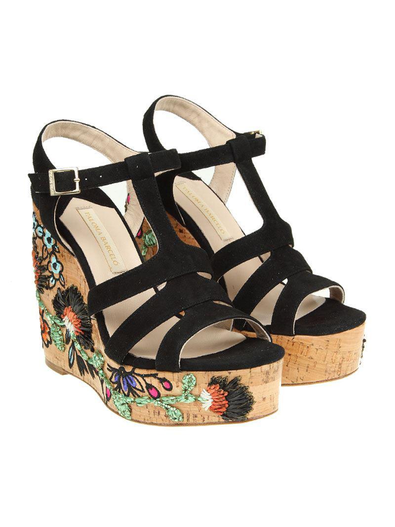 Black Llaten sandals Paloma Barcel�� Tnd9hvv