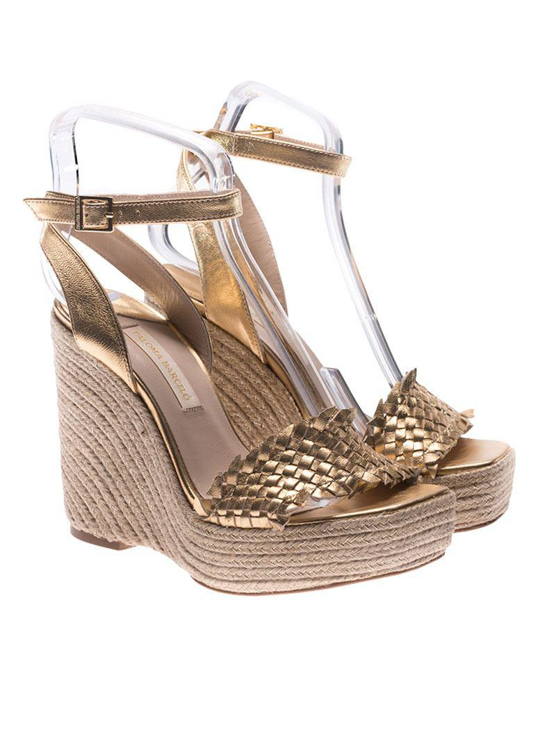 ac0a393e2ce Paloma Barceló. Women s Golden Melissa Wedge Sandals