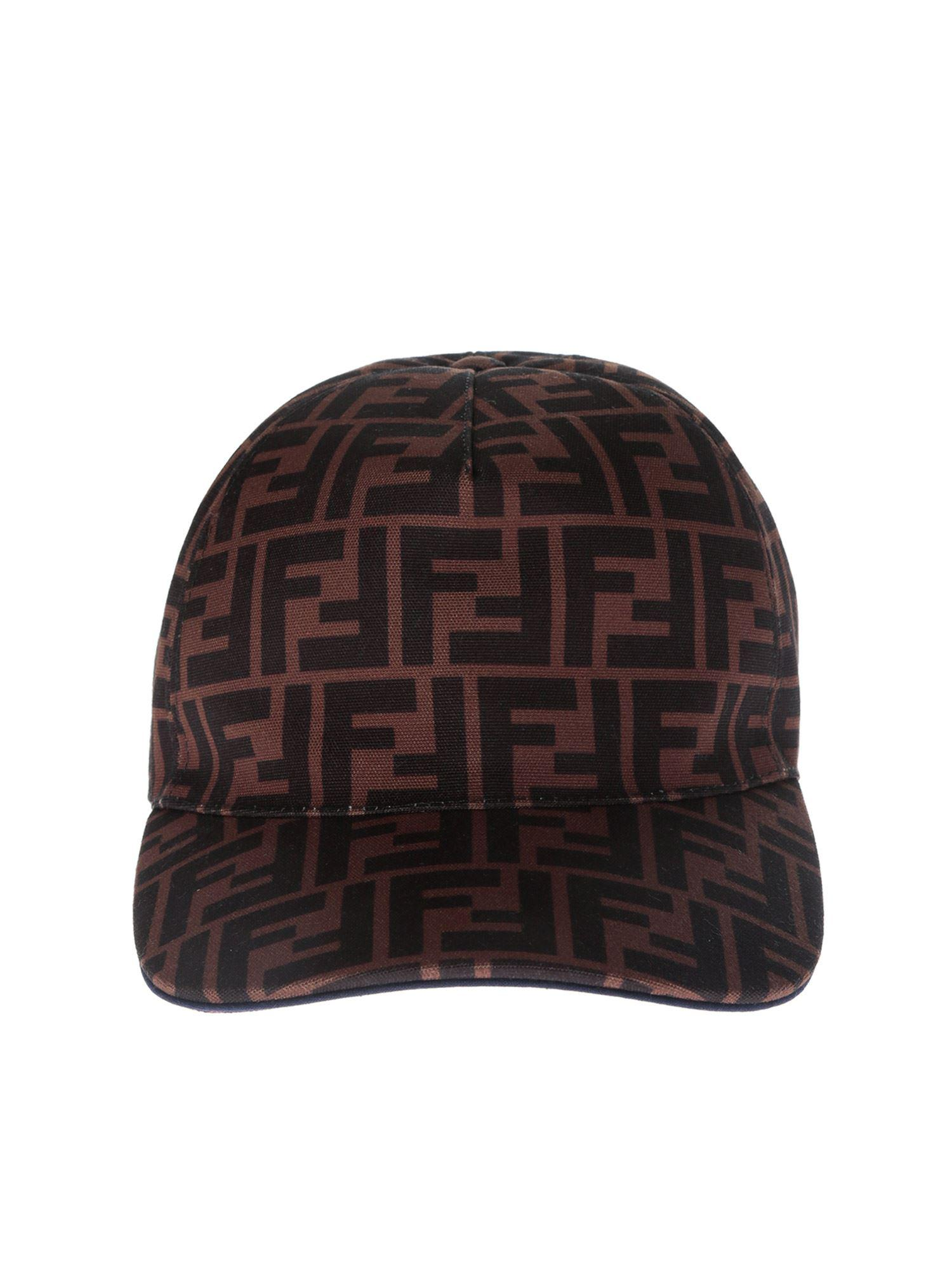 d81453111d2 Fendi Ff Printed Baseball Cap for Men - Lyst