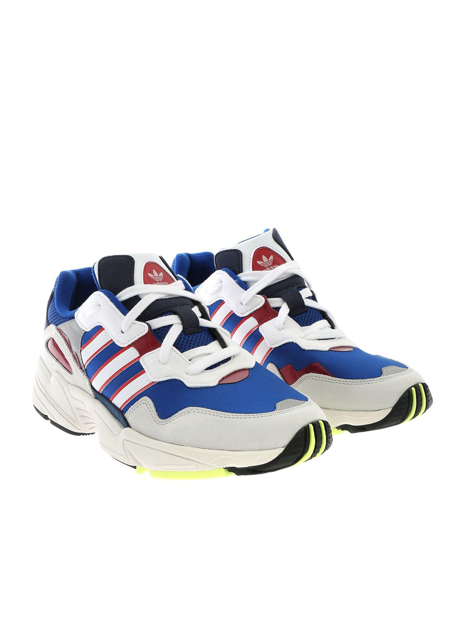 pretty nice 24542 7a785 adidas Originals Yung-96 Ecru And Bluette Sneakers in Blue for Men - Lyst