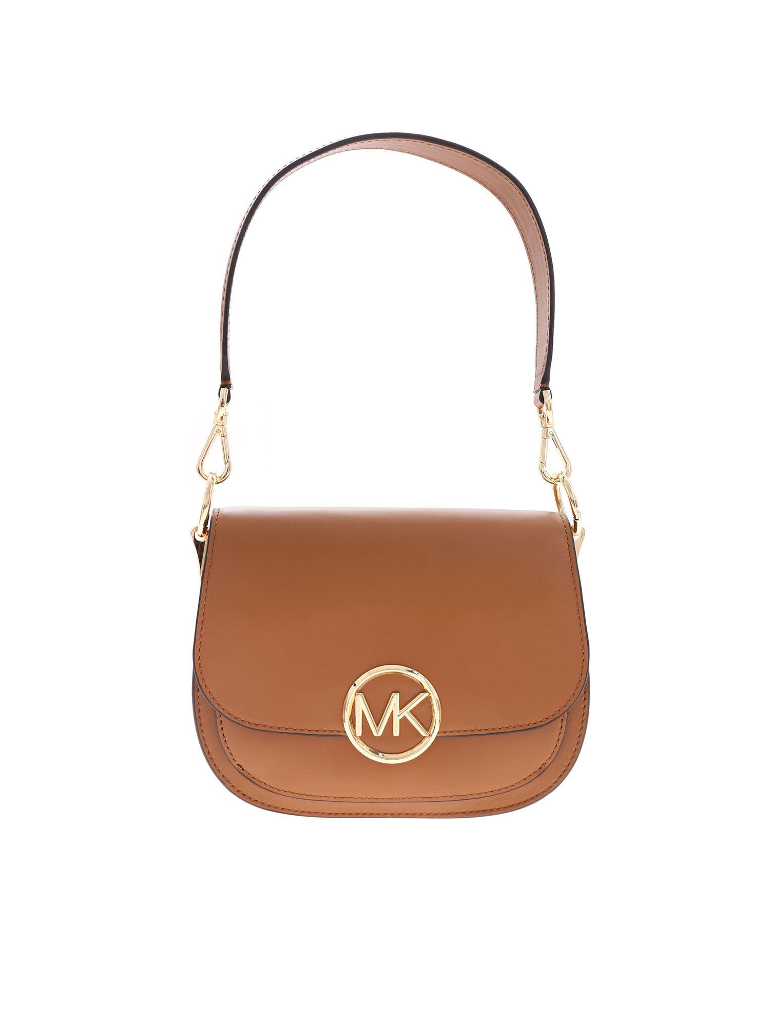 8d9822d686bf Michael Kors Lillie Shoulder Bag In Leather-color in Brown - Lyst