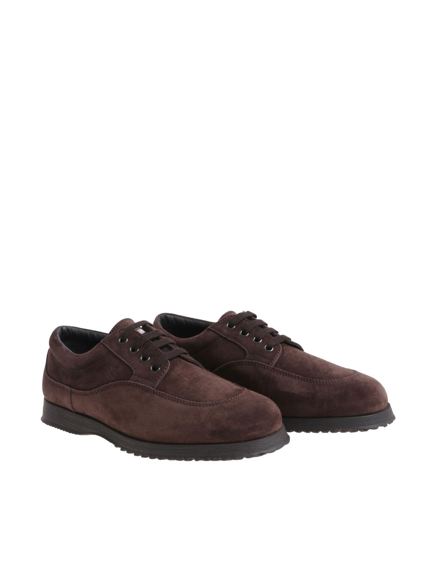 Hogan Hg0 Brown Derby Shoes in Brown for Men - Lyst e259a1ec6e0