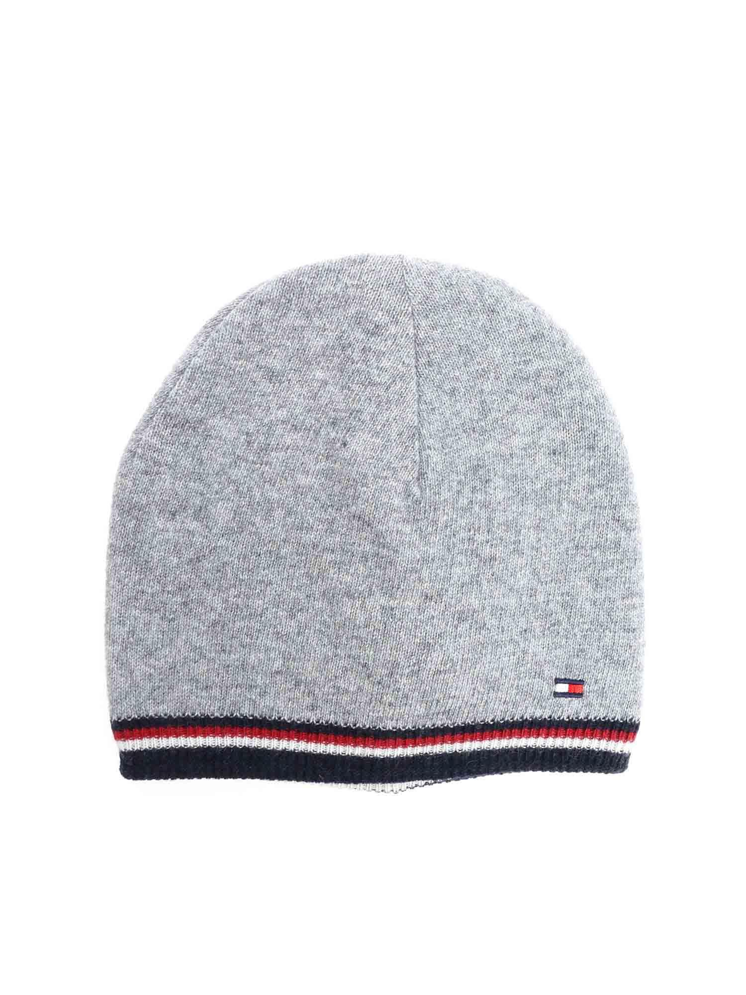 a53ad12f35b Lyst - Tommy Hilfiger Reversible Gray Beanie in Gray
