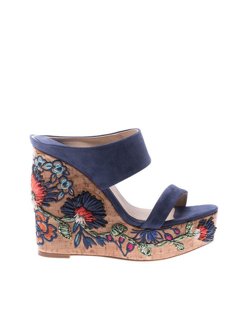 Blue Amarilis wedge sandals Paloma Barcel�� BktssWCS